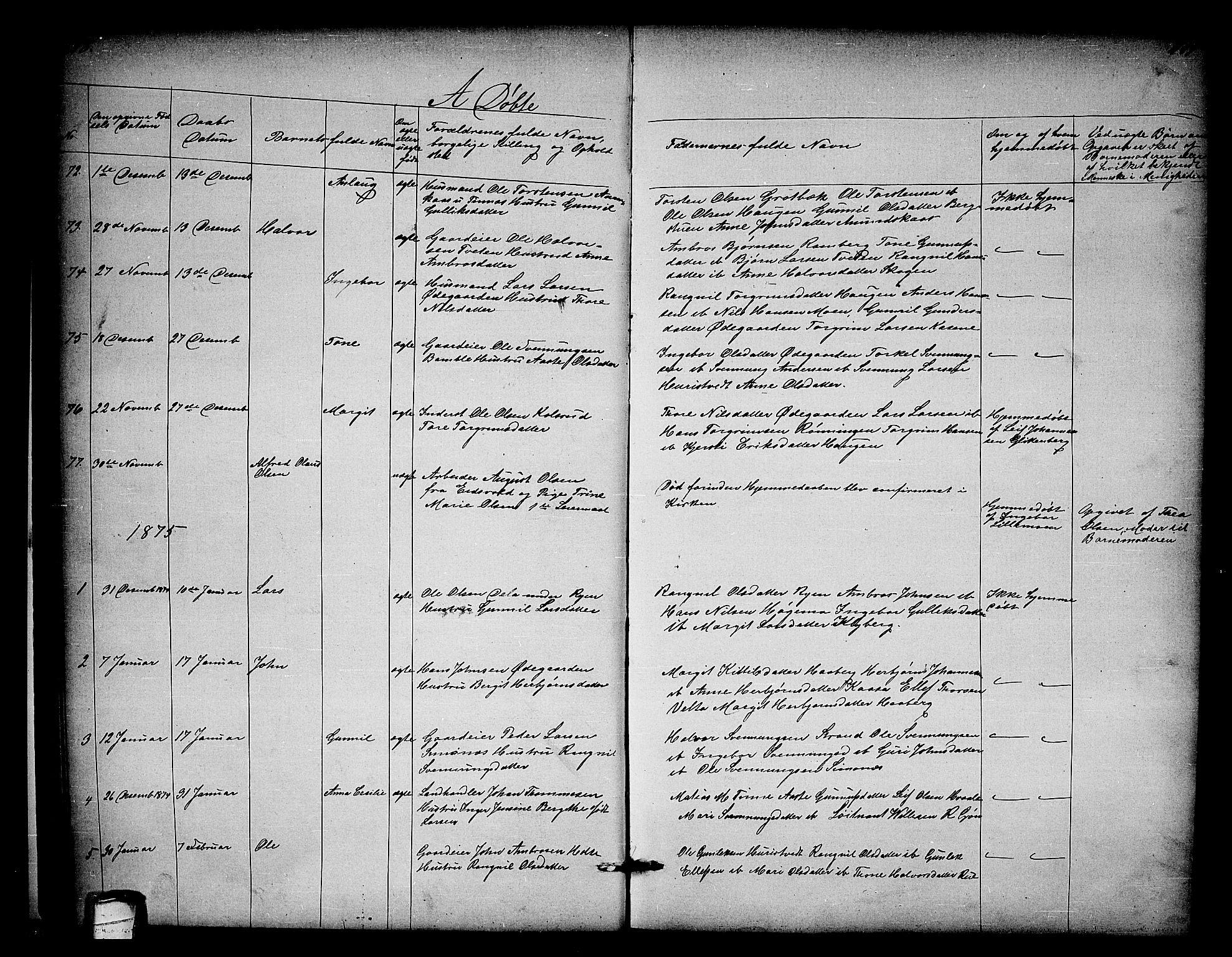 SAKO, Heddal kirkebøker, G/Ga/L0001: Klokkerbok nr. I 1, 1866-1878, s. 118-119