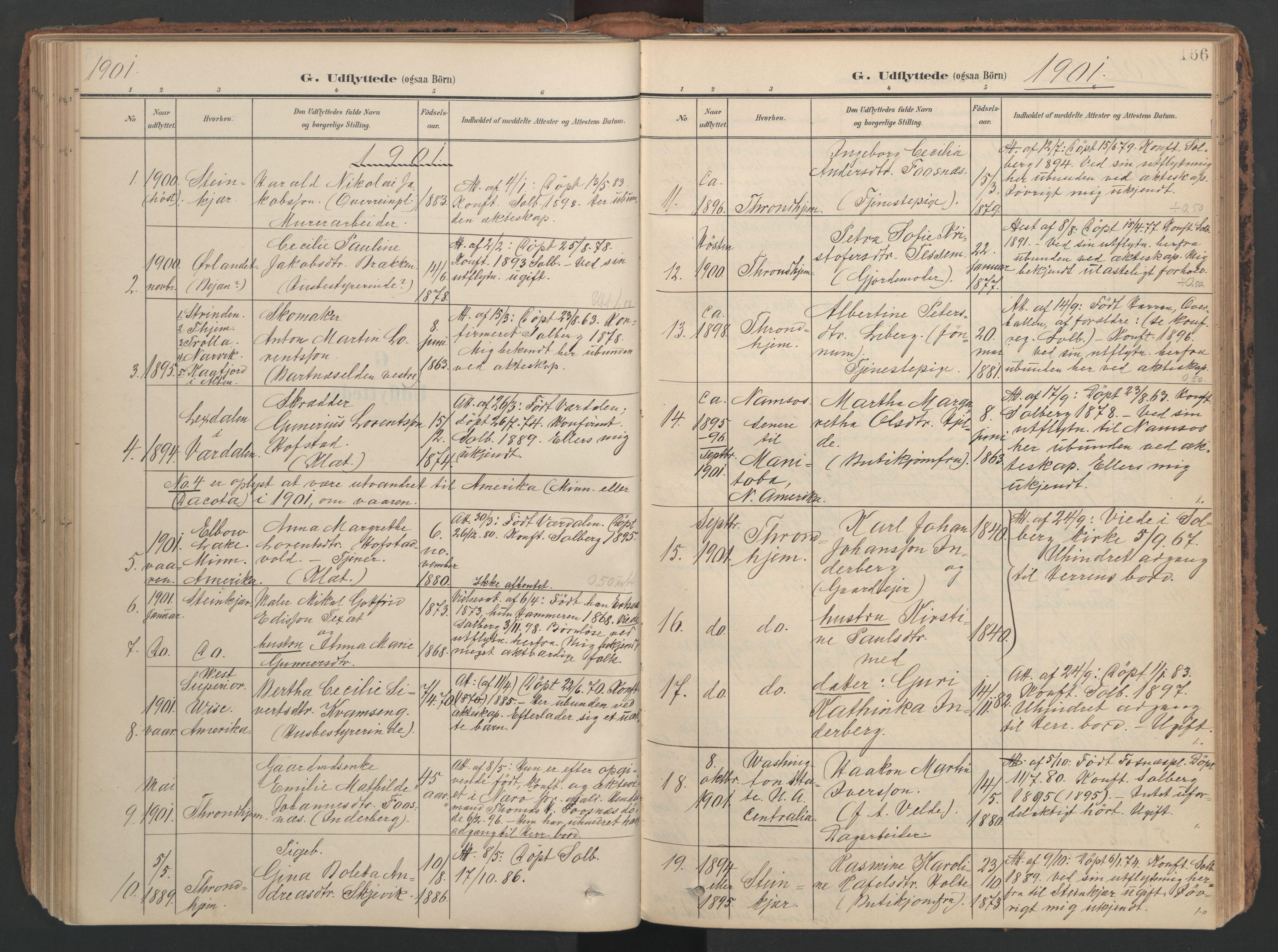 SAT, Ministerialprotokoller, klokkerbøker og fødselsregistre - Nord-Trøndelag, 741/L0397: Ministerialbok nr. 741A11, 1901-1911, s. 166