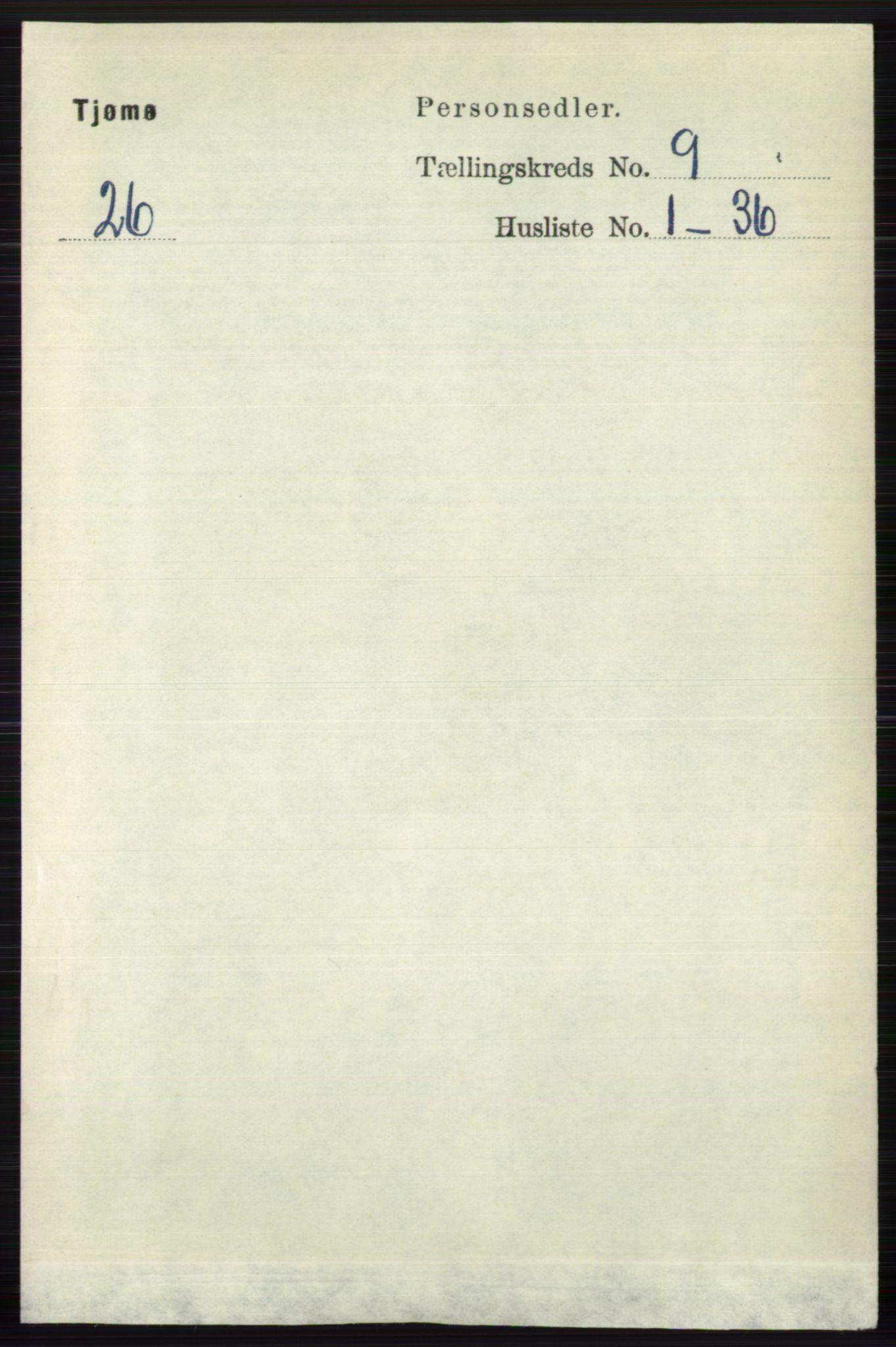 RA, Folketelling 1891 for 0723 Tjøme herred, 1891, s. 3259