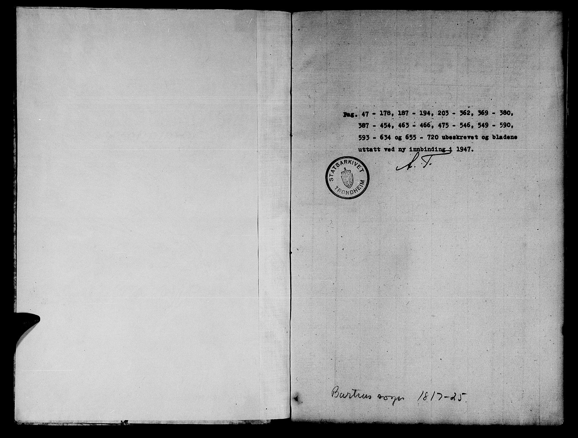SAT, Ministerialprotokoller, klokkerbøker og fødselsregistre - Nord-Trøndelag, 745/L0433: Klokkerbok nr. 745C02, 1817-1825