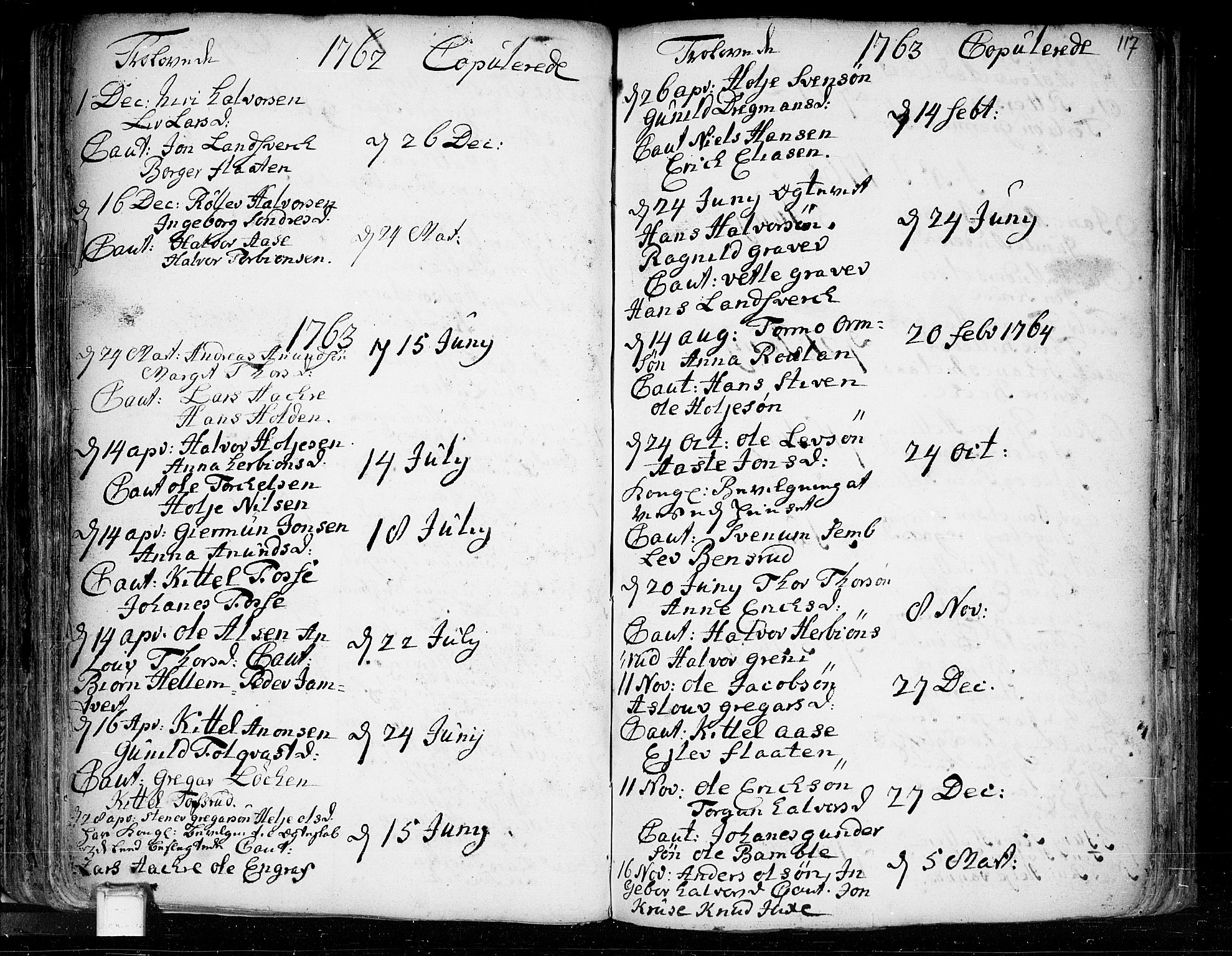 SAKO, Heddal kirkebøker, F/Fa/L0003: Ministerialbok nr. I 3, 1723-1783, s. 117