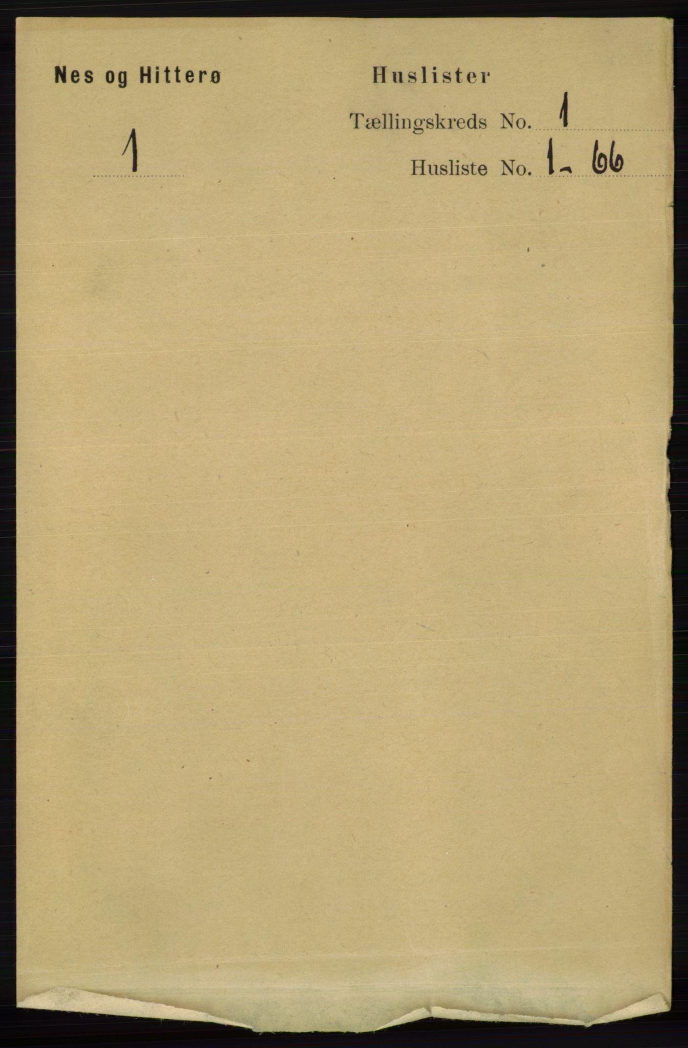 RA, Folketelling 1891 for 1043 Hidra og Nes herred, 1891, s. 29
