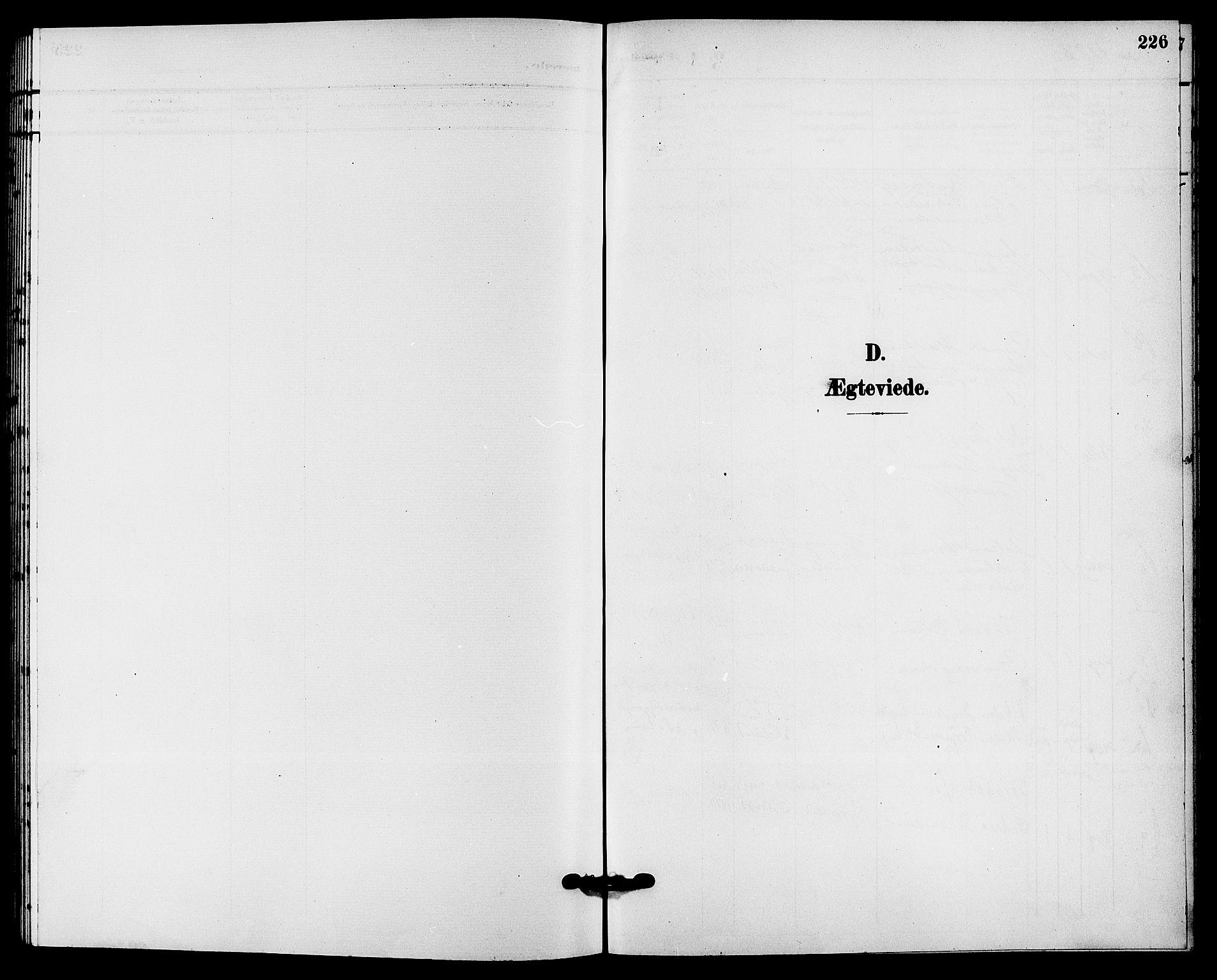 SAKO, Solum kirkebøker, G/Ga/L0008: Klokkerbok nr. I 8, 1898-1909, s. 226