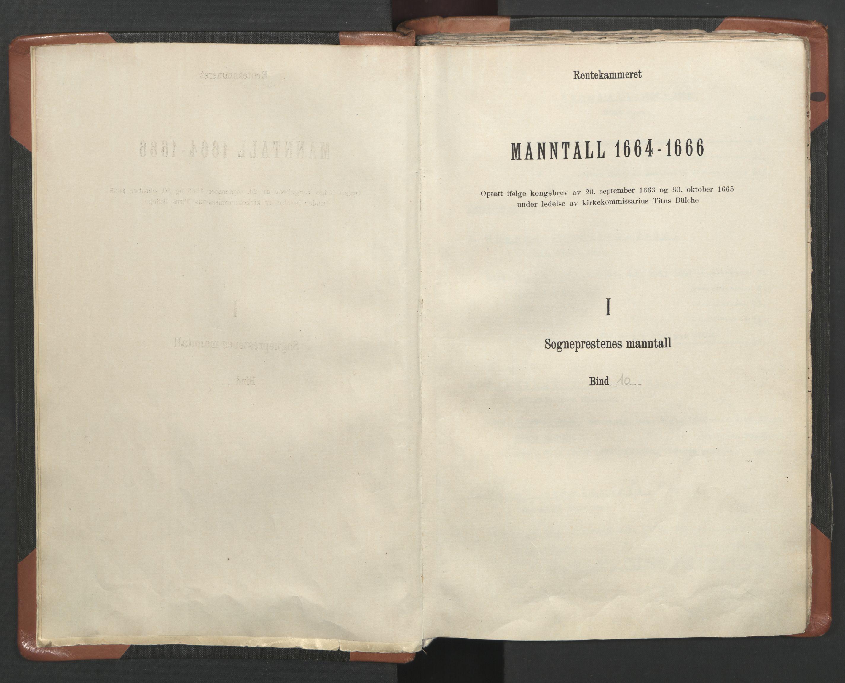 RA, Sogneprestenes manntall 1664-1666, nr. 10: Tønsberg prosti, 1664-1666, s. upaginert