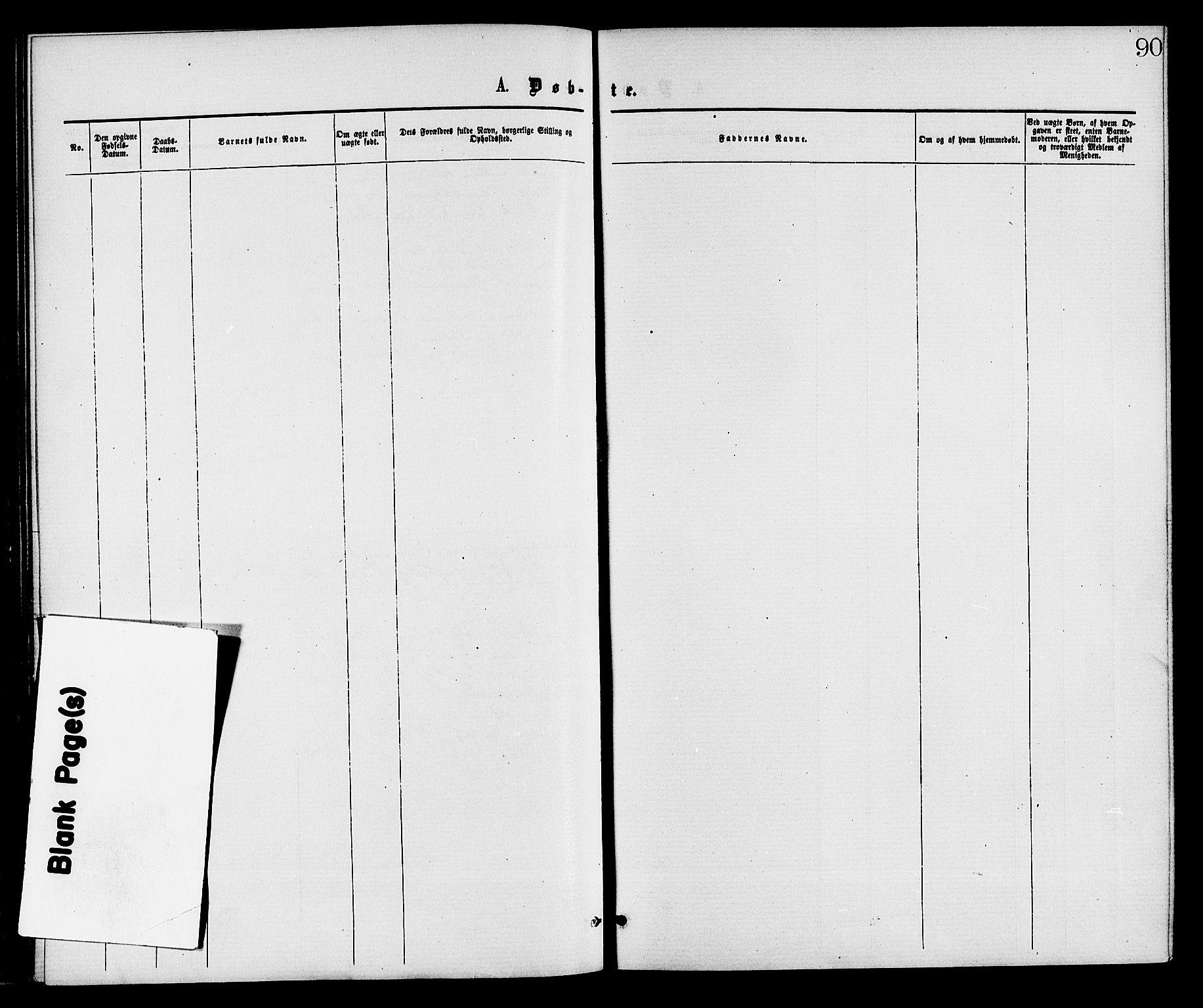SAKO, Gransherad kirkebøker, F/Fa/L0004: Ministerialbok nr. I 4, 1871-1886, s. 90