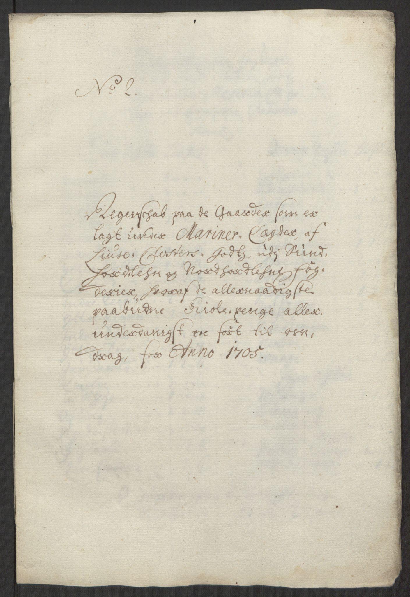 RA, Rentekammeret inntil 1814, Reviderte regnskaper, Fogderegnskap, R50/L3159: Fogderegnskap Lyse kloster, 1691-1709, s. 238