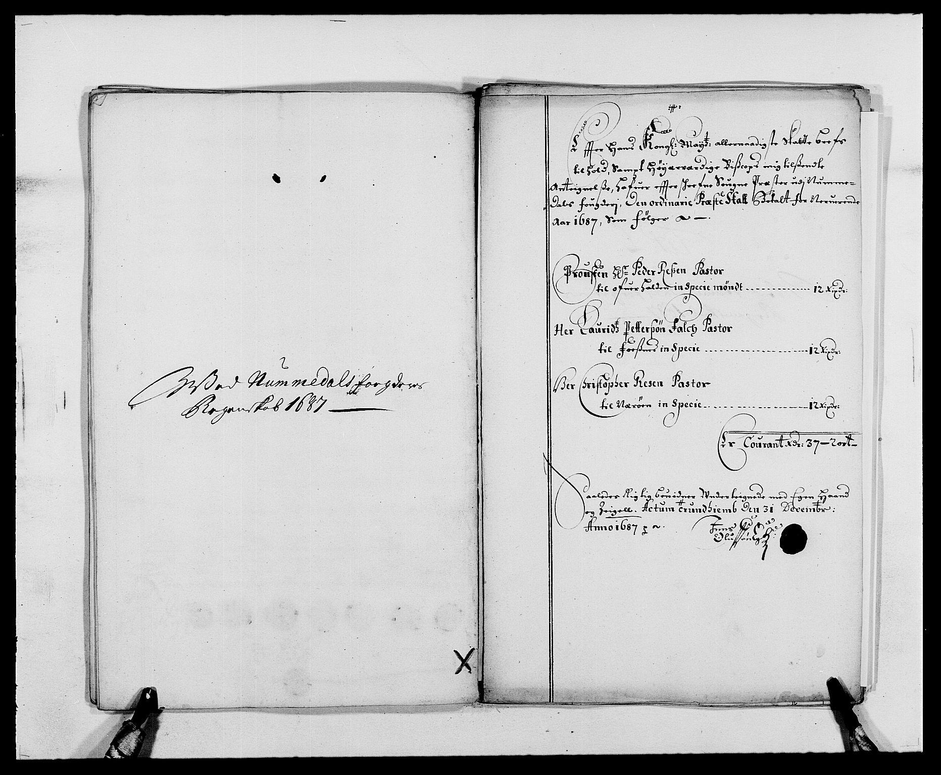 RA, Rentekammeret inntil 1814, Reviderte regnskaper, Fogderegnskap, R64/L4422: Fogderegnskap Namdal, 1687-1689, s. 64