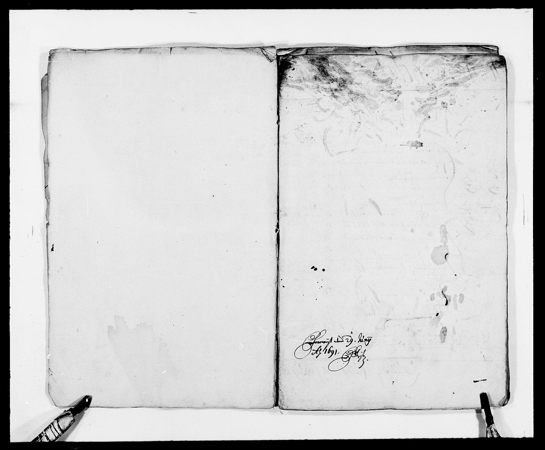 RA, Rentekammeret inntil 1814, Reviderte regnskaper, Fogderegnskap, R34/L2050: Fogderegnskap Bamble, 1688-1691, s. 6