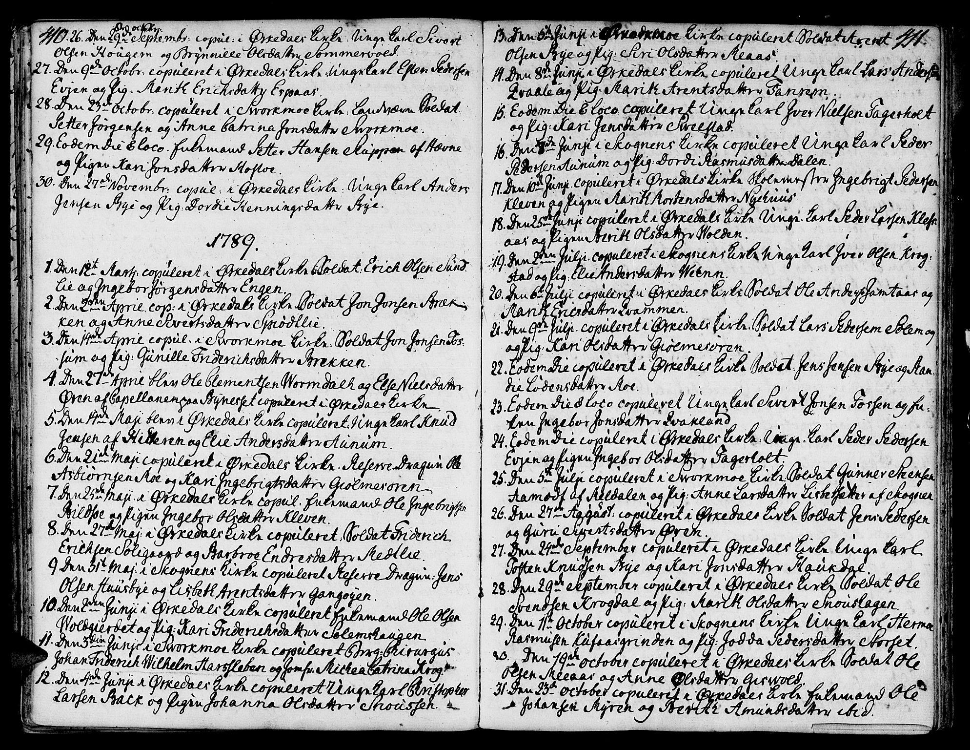 SAT, Ministerialprotokoller, klokkerbøker og fødselsregistre - Sør-Trøndelag, 668/L0802: Ministerialbok nr. 668A02, 1776-1799, s. 410-411