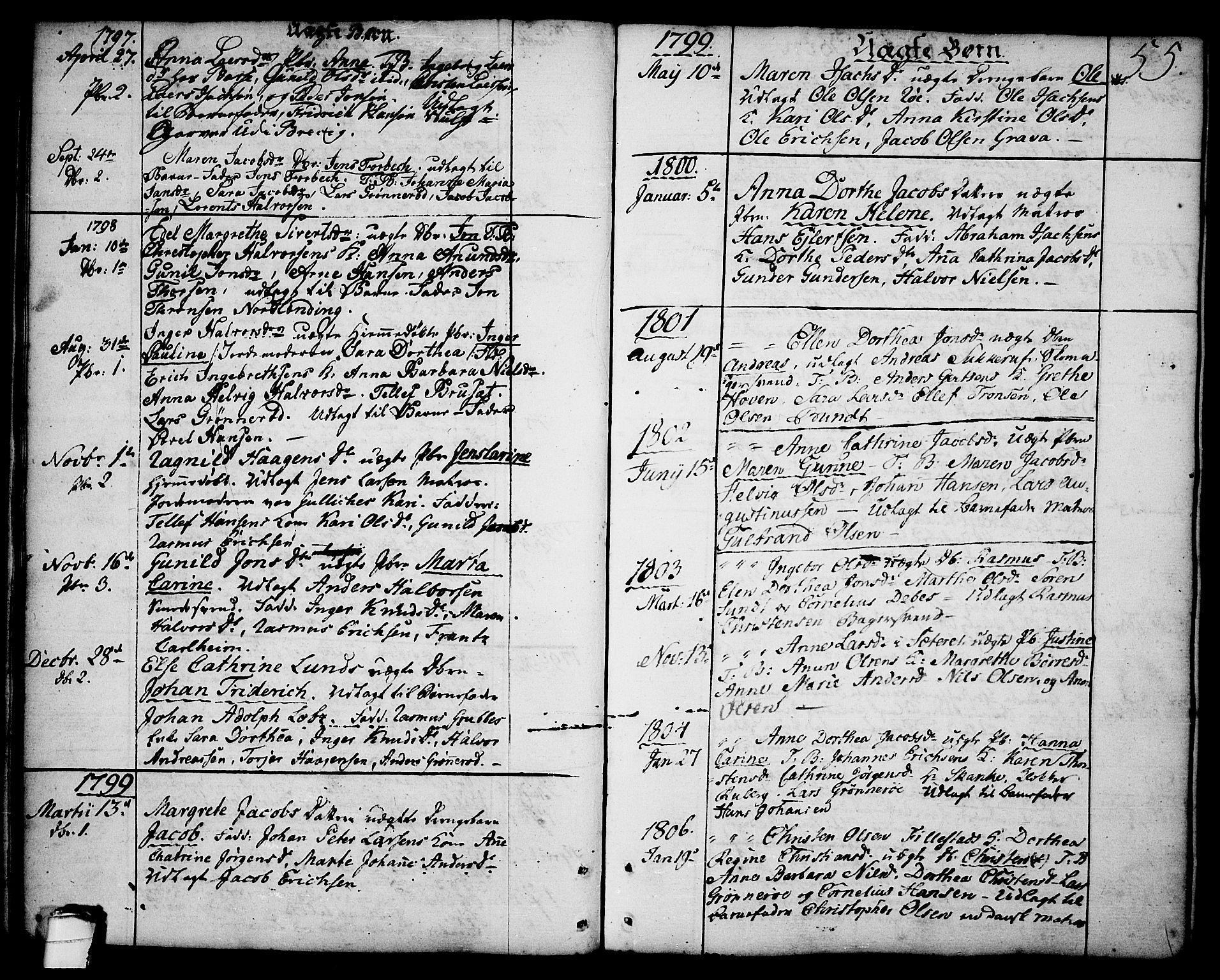 SAKO, Brevik kirkebøker, F/Fa/L0003: Ministerialbok nr. 3, 1764-1814, s. 55