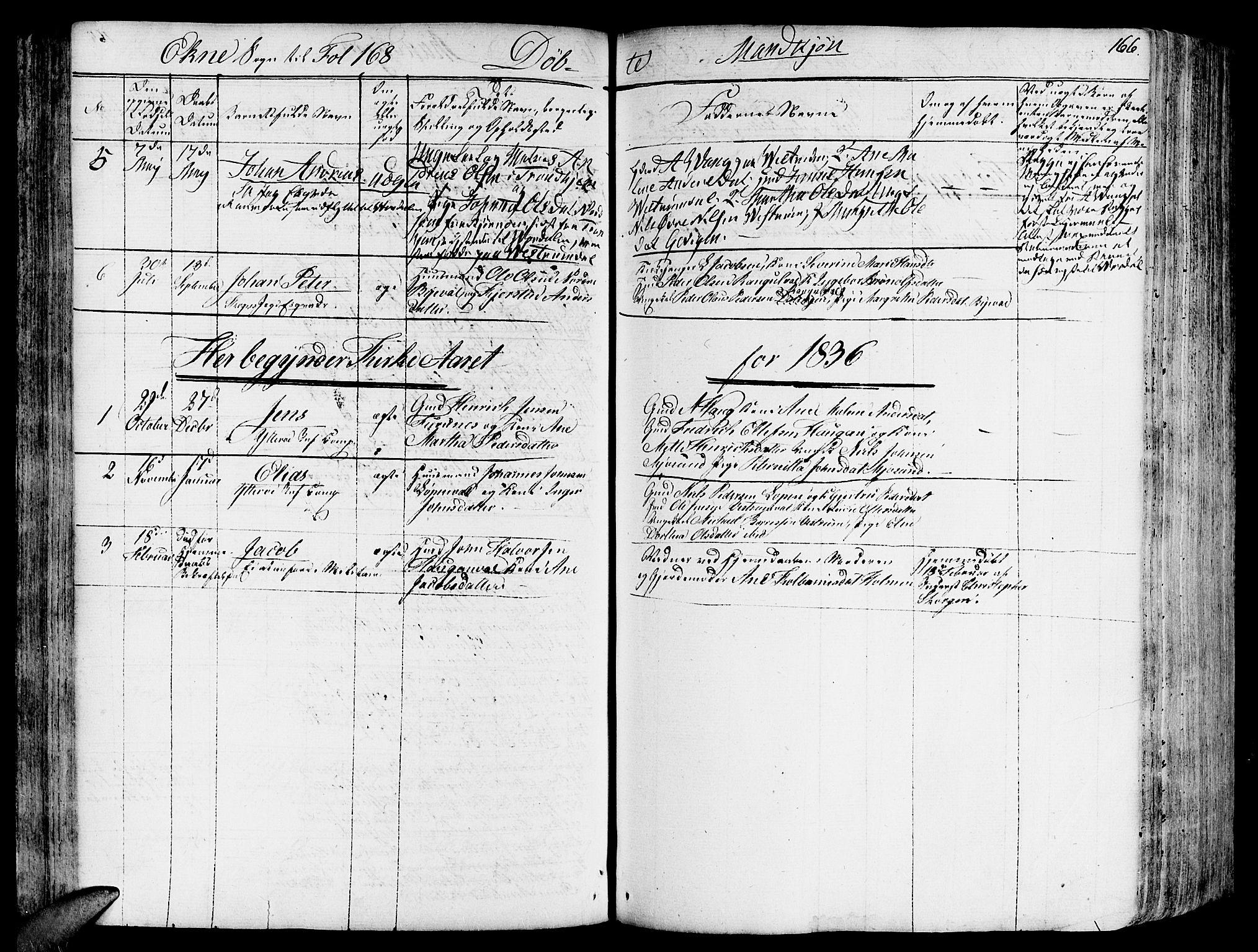SAT, Ministerialprotokoller, klokkerbøker og fødselsregistre - Nord-Trøndelag, 717/L0152: Ministerialbok nr. 717A05 /2, 1828-1836, s. 166