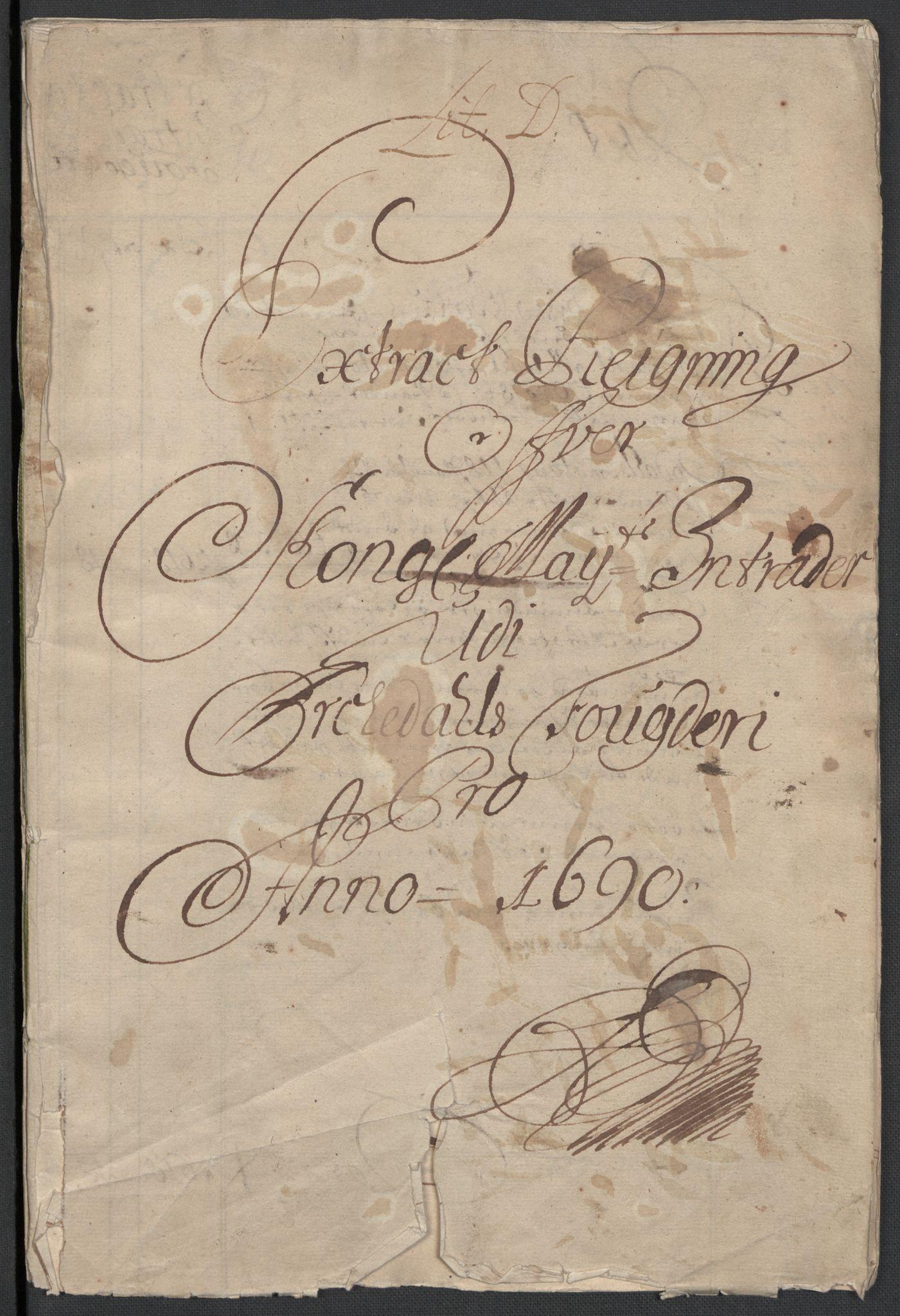 RA, Rentekammeret inntil 1814, Reviderte regnskaper, Fogderegnskap, R58/L3936: Fogderegnskap Orkdal, 1689-1690, s. 251