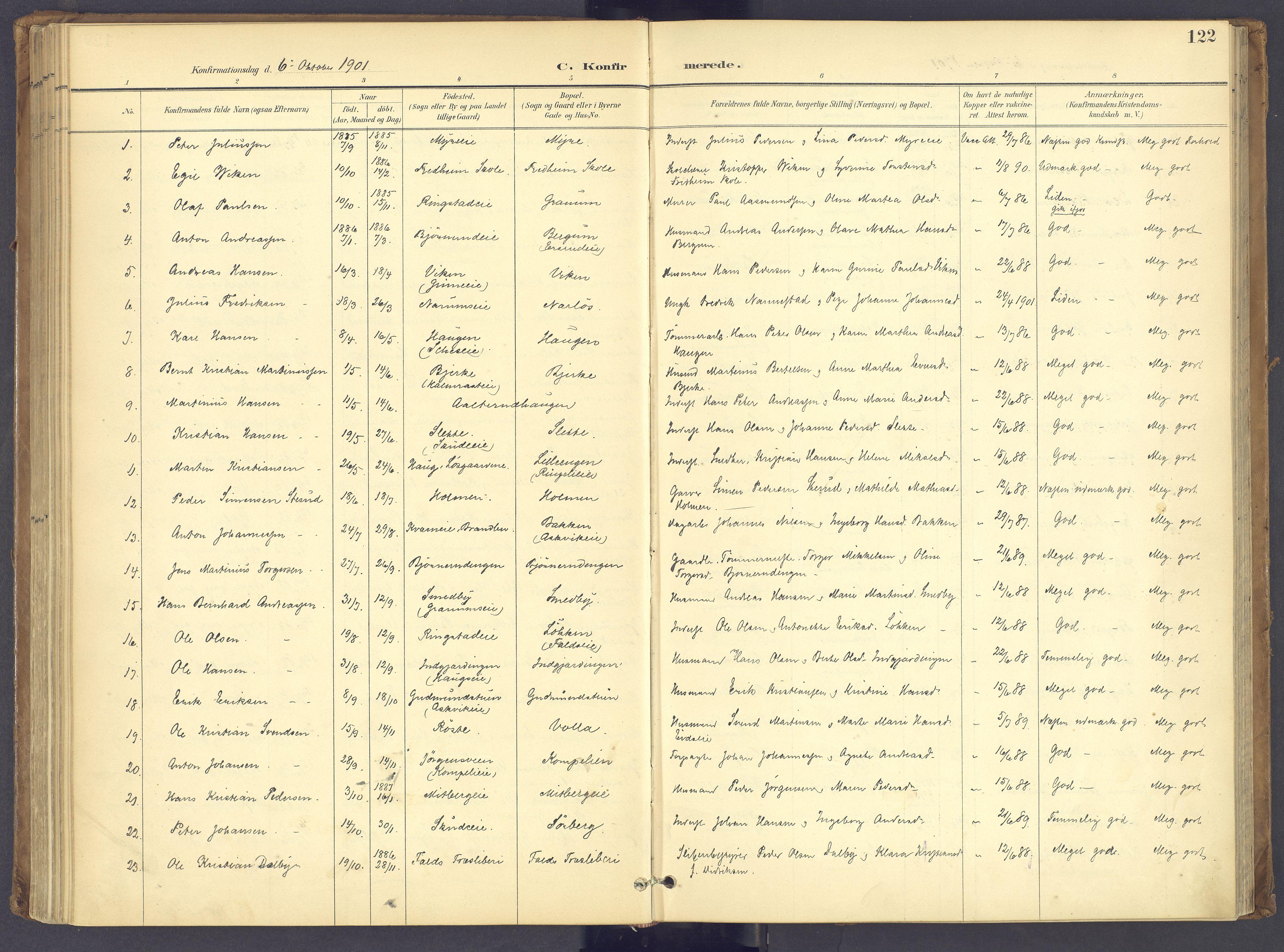 SAH, Søndre Land prestekontor, K/L0006: Ministerialbok nr. 6, 1895-1904, s. 122