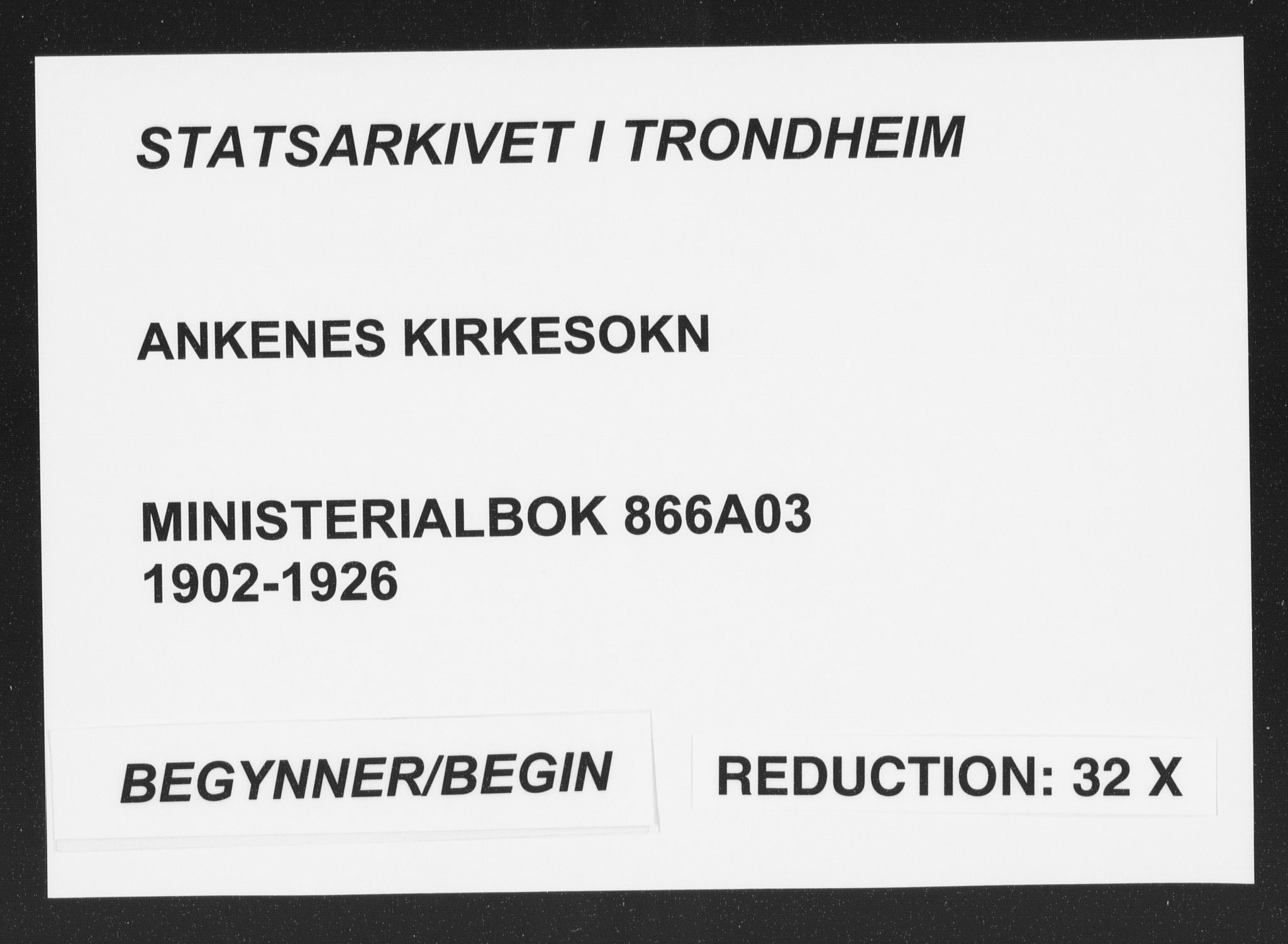 SAT, Ministerialprotokoller, klokkerbøker og fødselsregistre - Nordland, 866/L0940: Ministerialbok nr. 866A03, 1902-1926