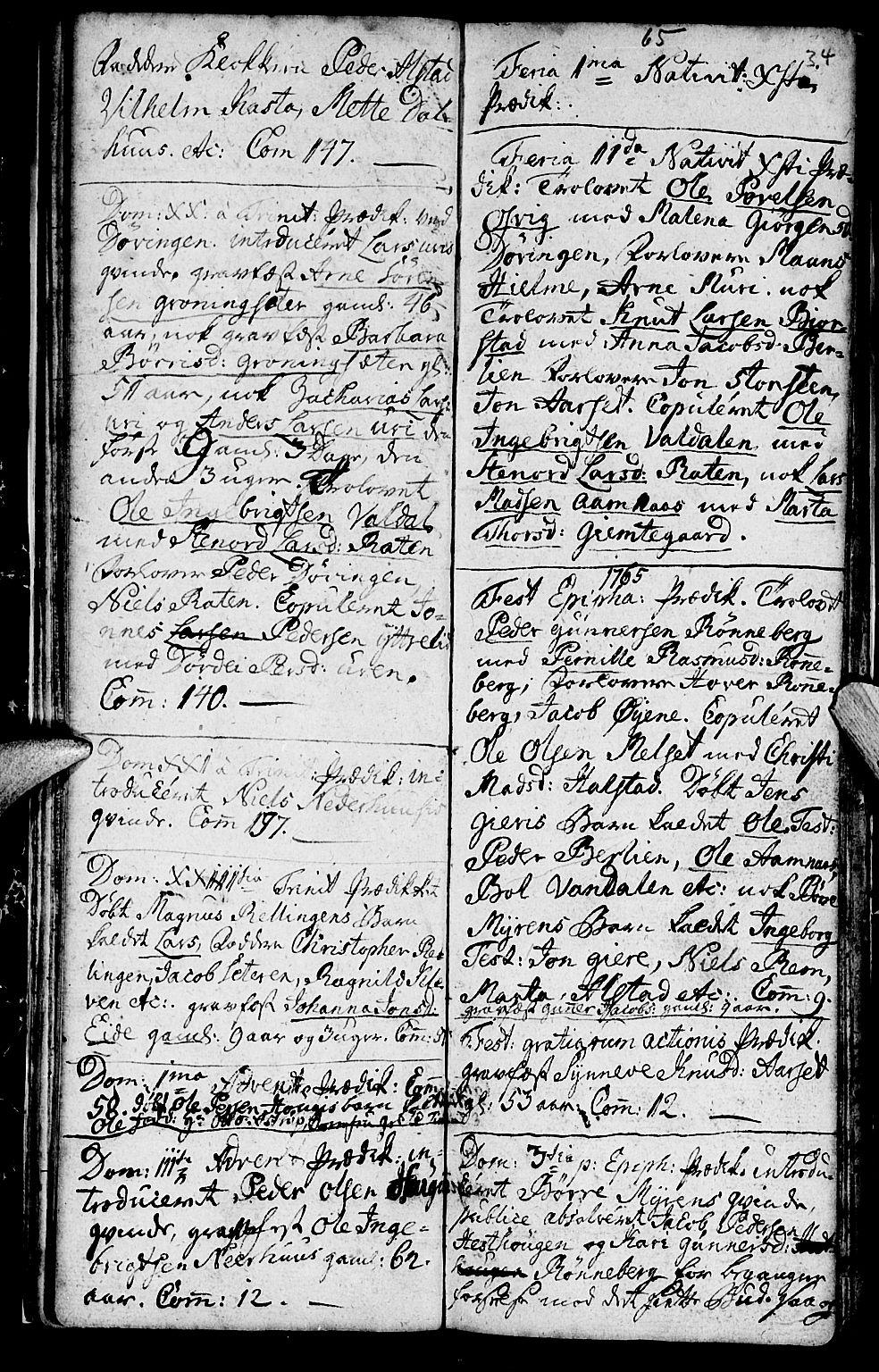 SAT, Ministerialprotokoller, klokkerbøker og fødselsregistre - Møre og Romsdal, 519/L0243: Ministerialbok nr. 519A02, 1760-1770, s. 33-34