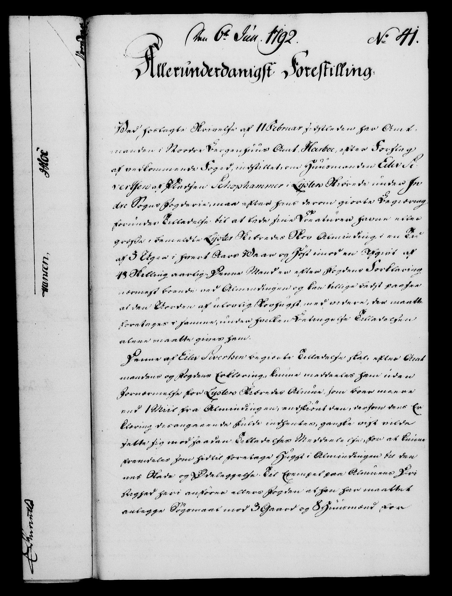 RA, Rentekammeret, Kammerkanselliet, G/Gf/Gfa/L0074: Norsk relasjons- og resolusjonsprotokoll (merket RK 52.74), 1792, s. 262