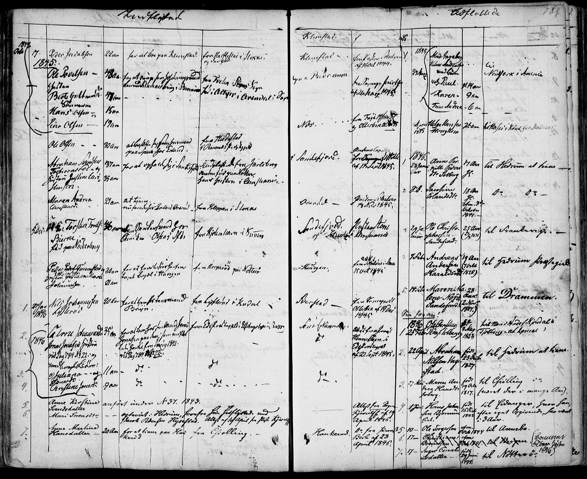 SAKO, Sandar kirkebøker, F/Fa/L0005: Ministerialbok nr. 5, 1832-1847, s. 788-789