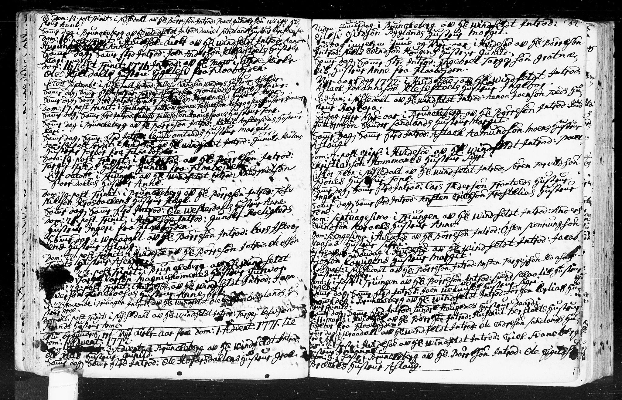SAKO, Kviteseid kirkebøker, F/Fa/L0001: Ministerialbok nr. I 1, 1754-1773, s. 63-64
