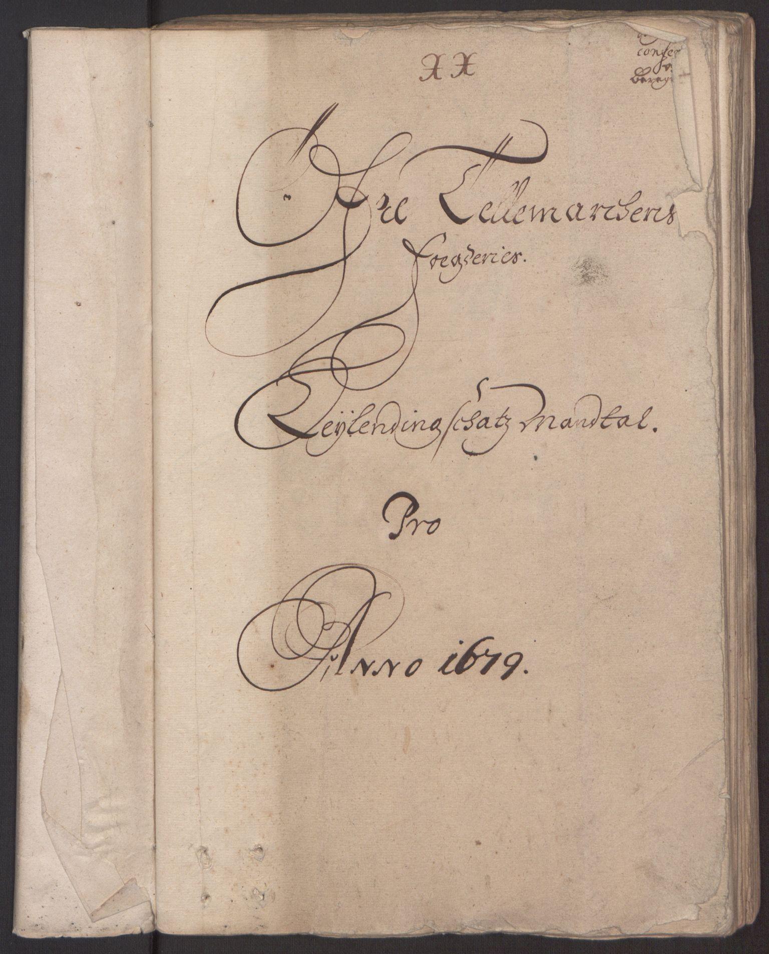 RA, Rentekammeret inntil 1814, Reviderte regnskaper, Fogderegnskap, R35/L2073: Fogderegnskap Øvre og Nedre Telemark, 1679, s. 30