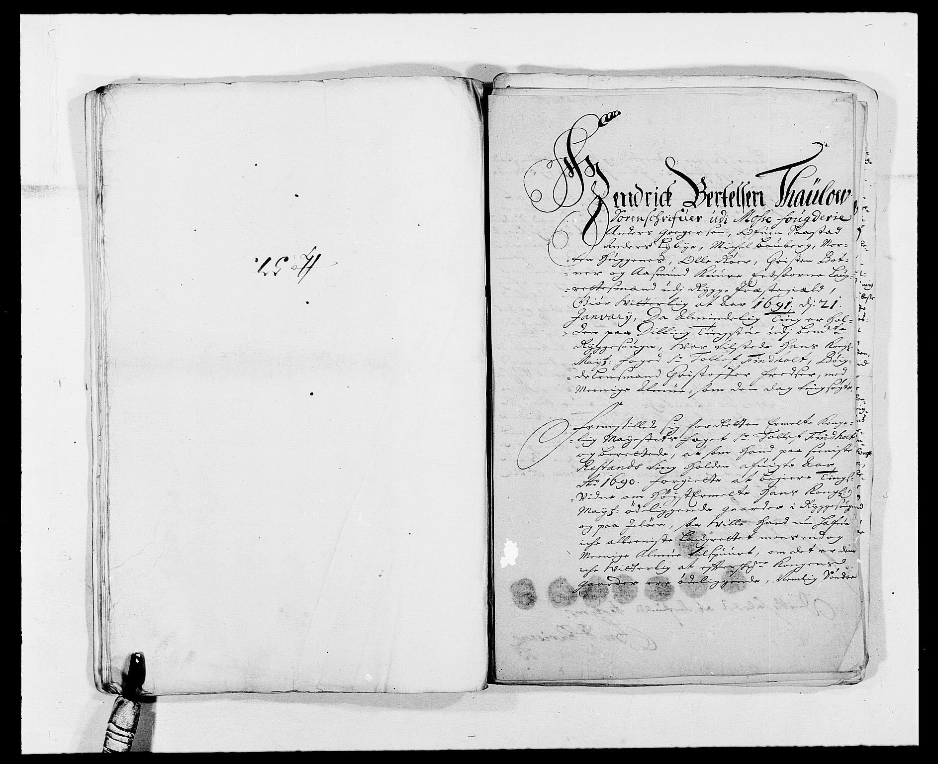 RA, Rentekammeret inntil 1814, Reviderte regnskaper, Fogderegnskap, R02/L0107: Fogderegnskap Moss og Verne kloster, 1685-1691, s. 302
