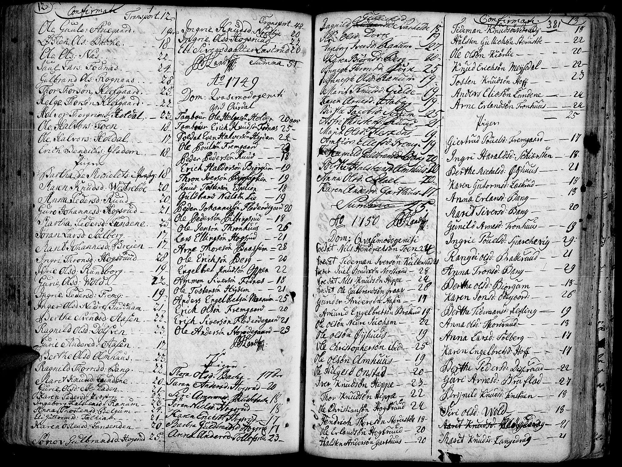SAH, Aurdal prestekontor, Ministerialbok nr. 4, 1730-1762, s. 12-13
