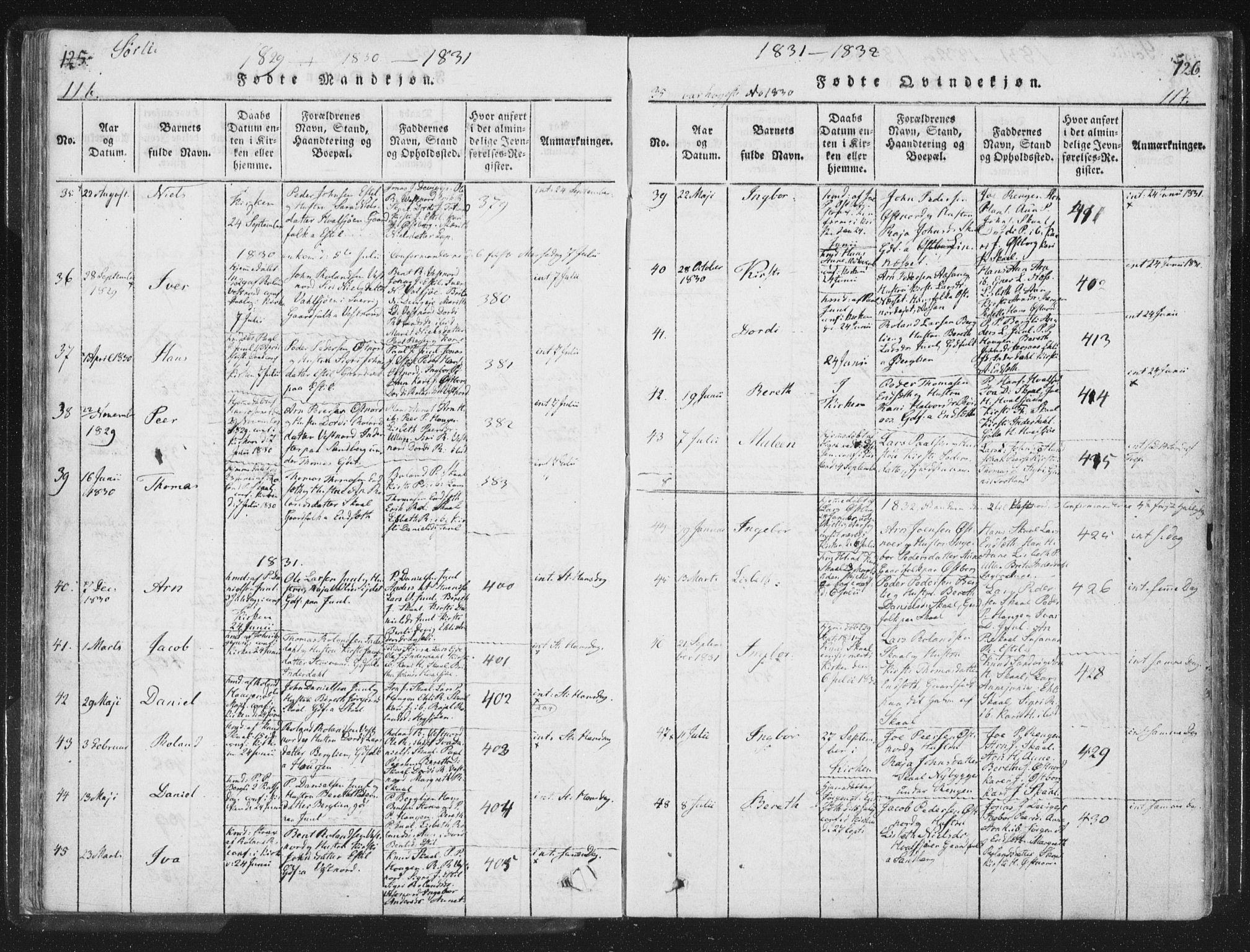 SAT, Ministerialprotokoller, klokkerbøker og fødselsregistre - Nord-Trøndelag, 755/L0491: Ministerialbok nr. 755A01 /2, 1817-1864, s. 116-117