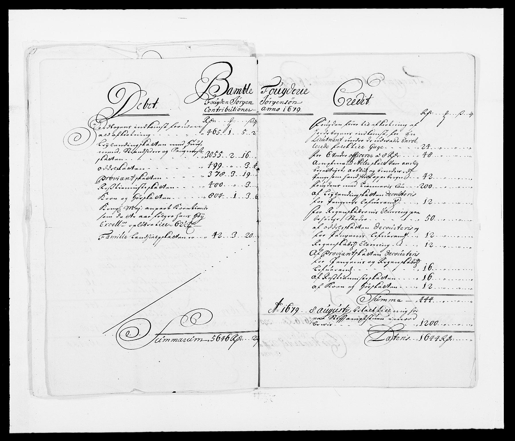 RA, Rentekammeret inntil 1814, Reviderte regnskaper, Fogderegnskap, R34/L2044: Fogderegnskap Bamble, 1678-1679, s. 437