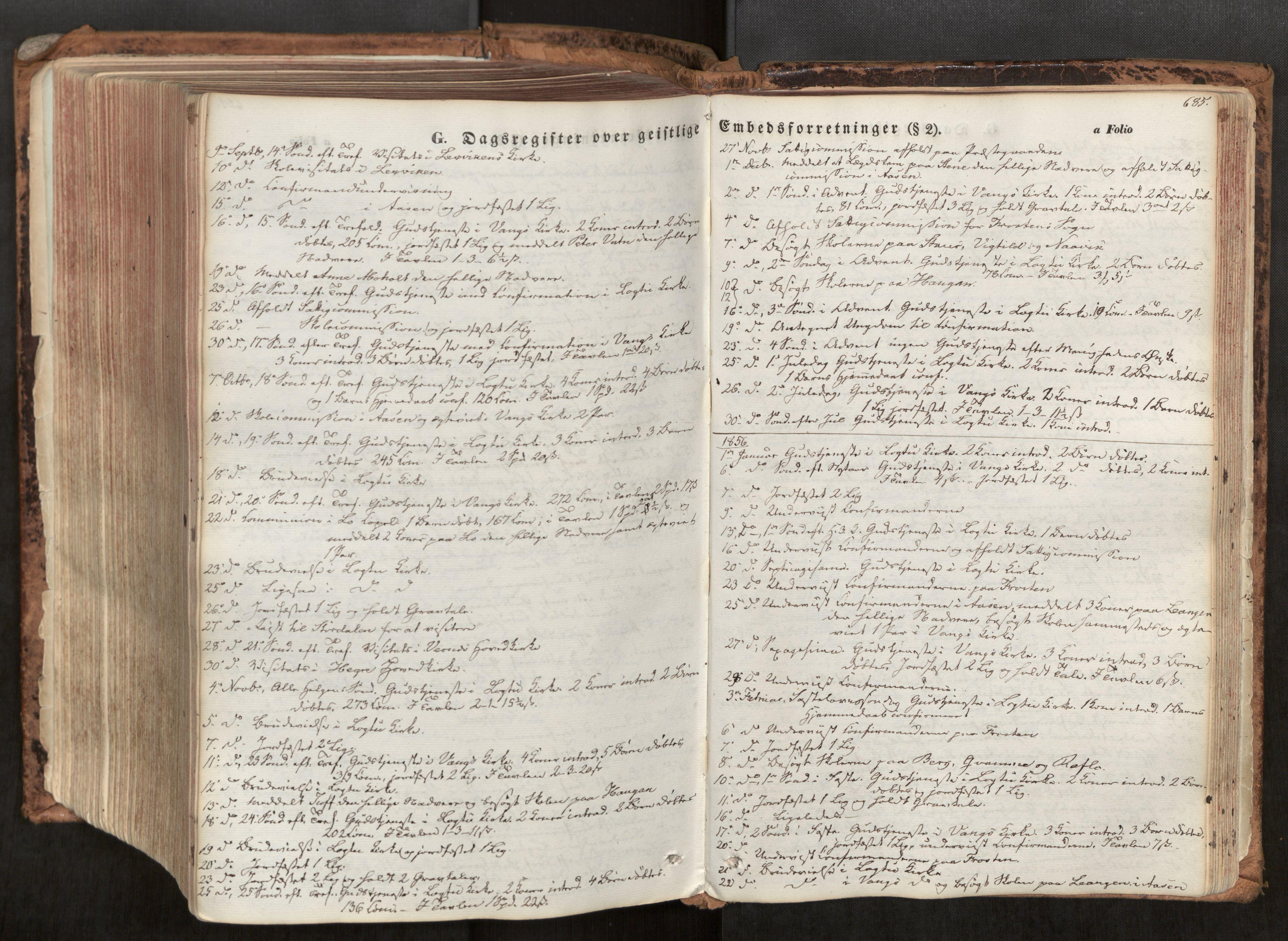 SAT, Ministerialprotokoller, klokkerbøker og fødselsregistre - Nord-Trøndelag, 713/L0116: Ministerialbok nr. 713A07, 1850-1877, s. 685