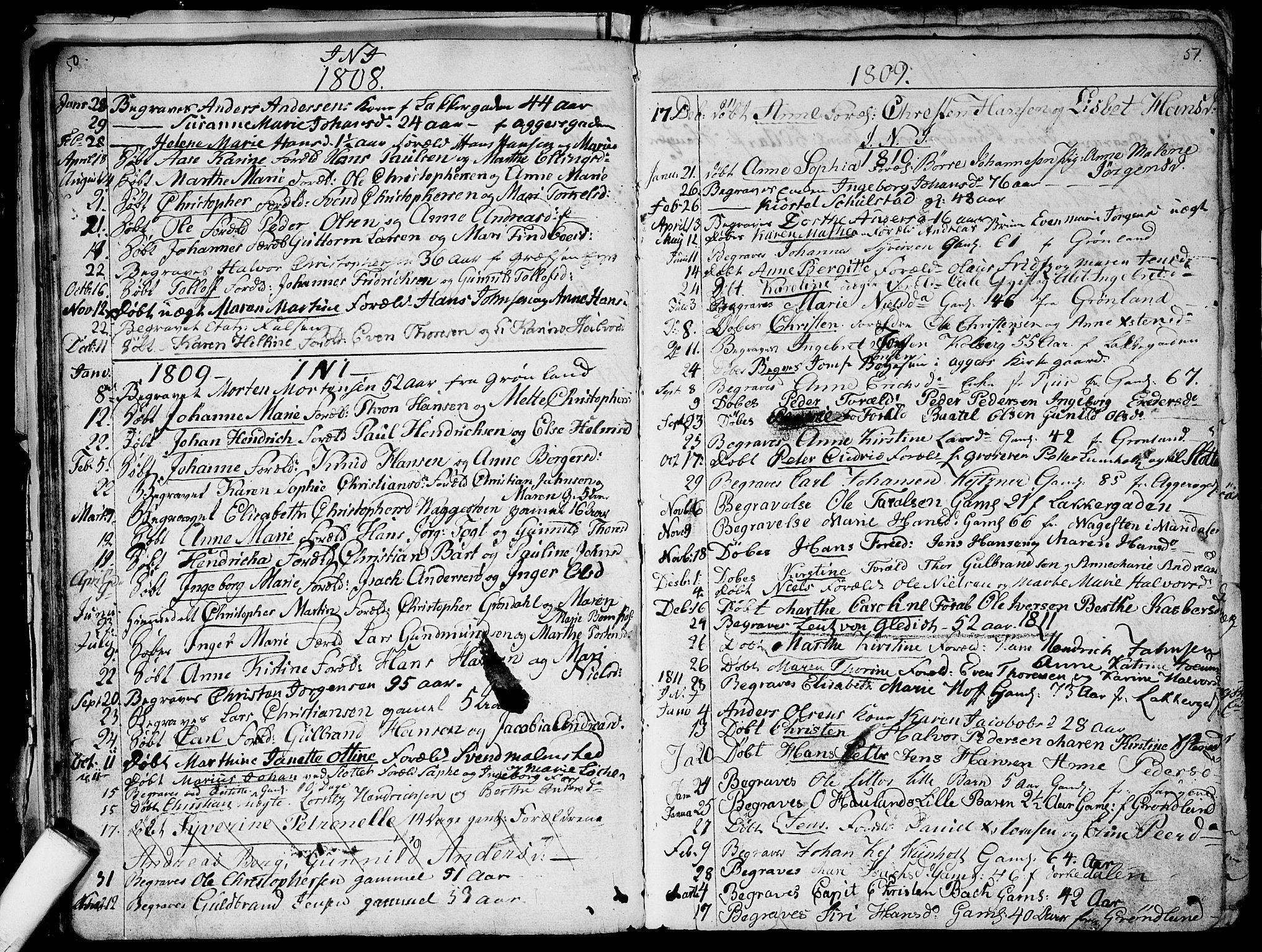 SAO, Aker prestekontor kirkebøker, G/L0001: Klokkerbok nr. 1, 1796-1826, s. 50-51