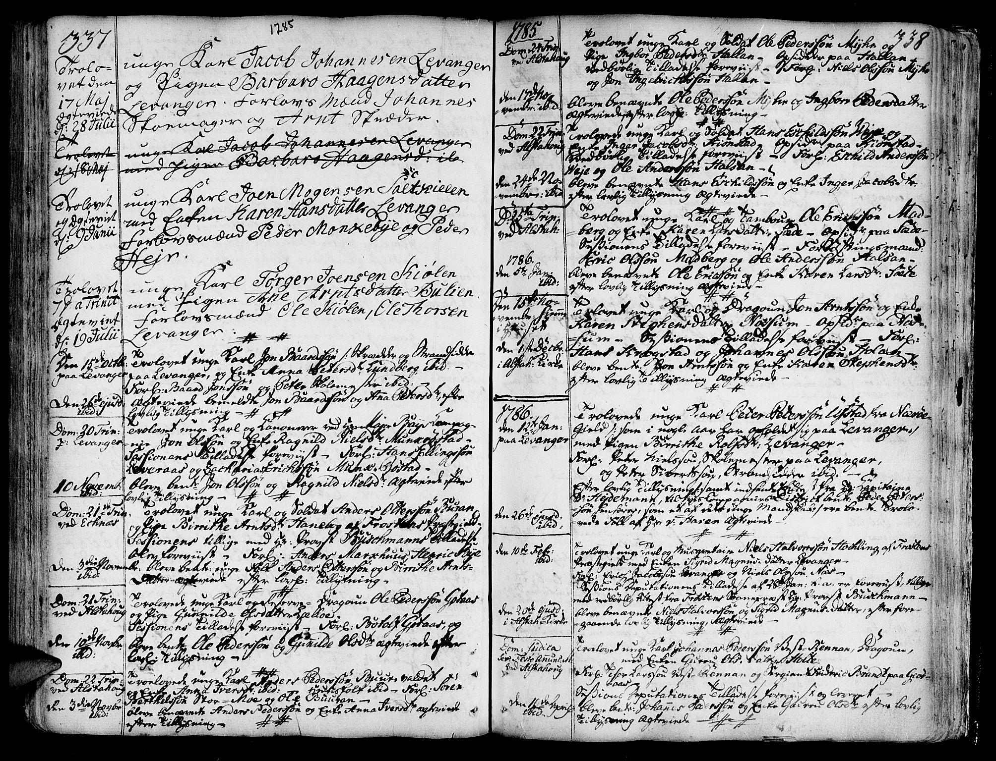 SAT, Ministerialprotokoller, klokkerbøker og fødselsregistre - Nord-Trøndelag, 717/L0141: Ministerialbok nr. 717A01, 1747-1803, s. 337-338