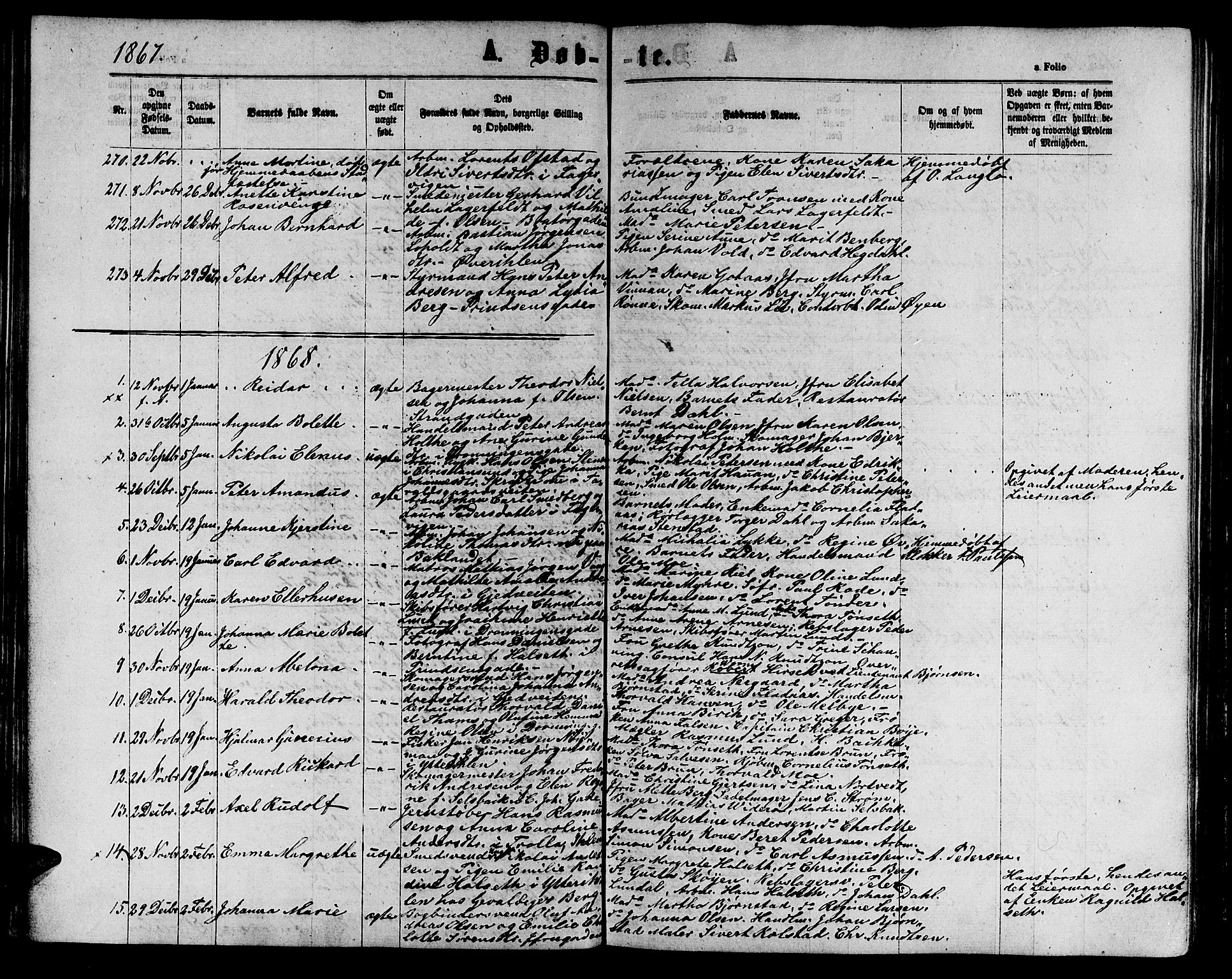 SAT, Ministerialprotokoller, klokkerbøker og fødselsregistre - Sør-Trøndelag, 602/L0141: Klokkerbok nr. 602C09, 1865-1877