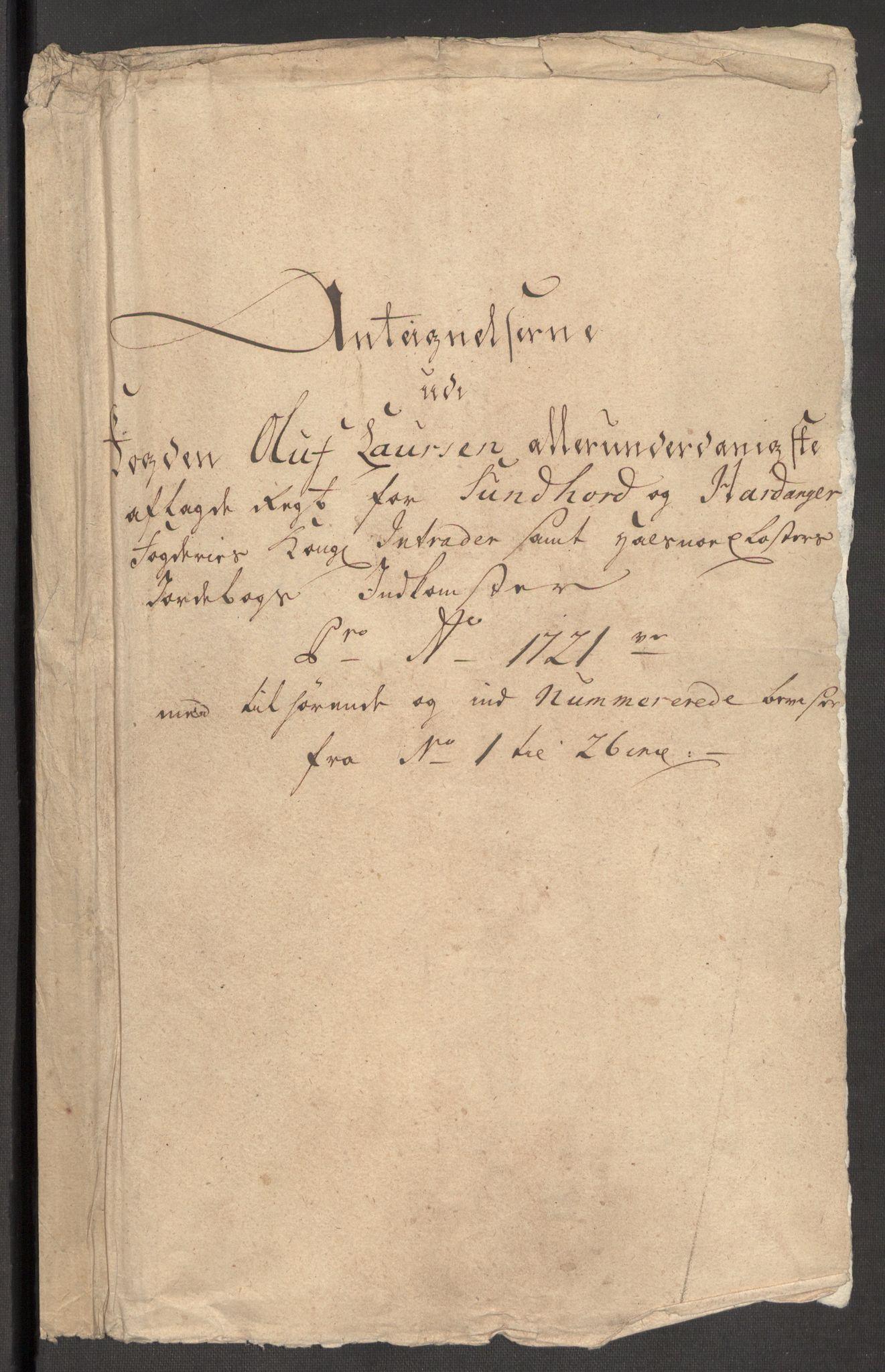 RA, Rentekammeret inntil 1814, Reviderte regnskaper, Fogderegnskap, R48/L3000: Fogderegnskap Sunnhordland og Hardanger, 1721, s. 443