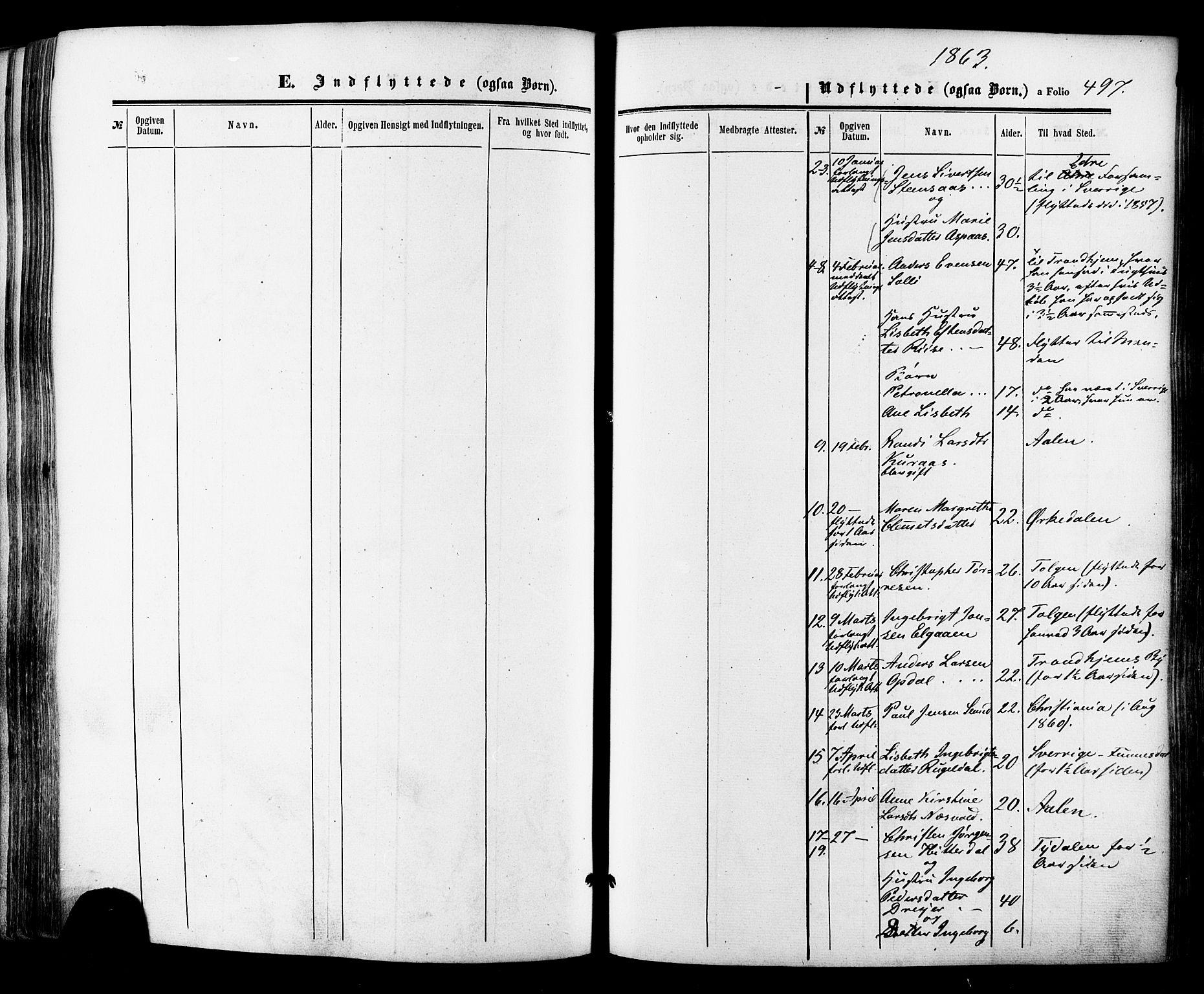 SAT, Ministerialprotokoller, klokkerbøker og fødselsregistre - Sør-Trøndelag, 681/L0932: Ministerialbok nr. 681A10, 1860-1878, s. 497
