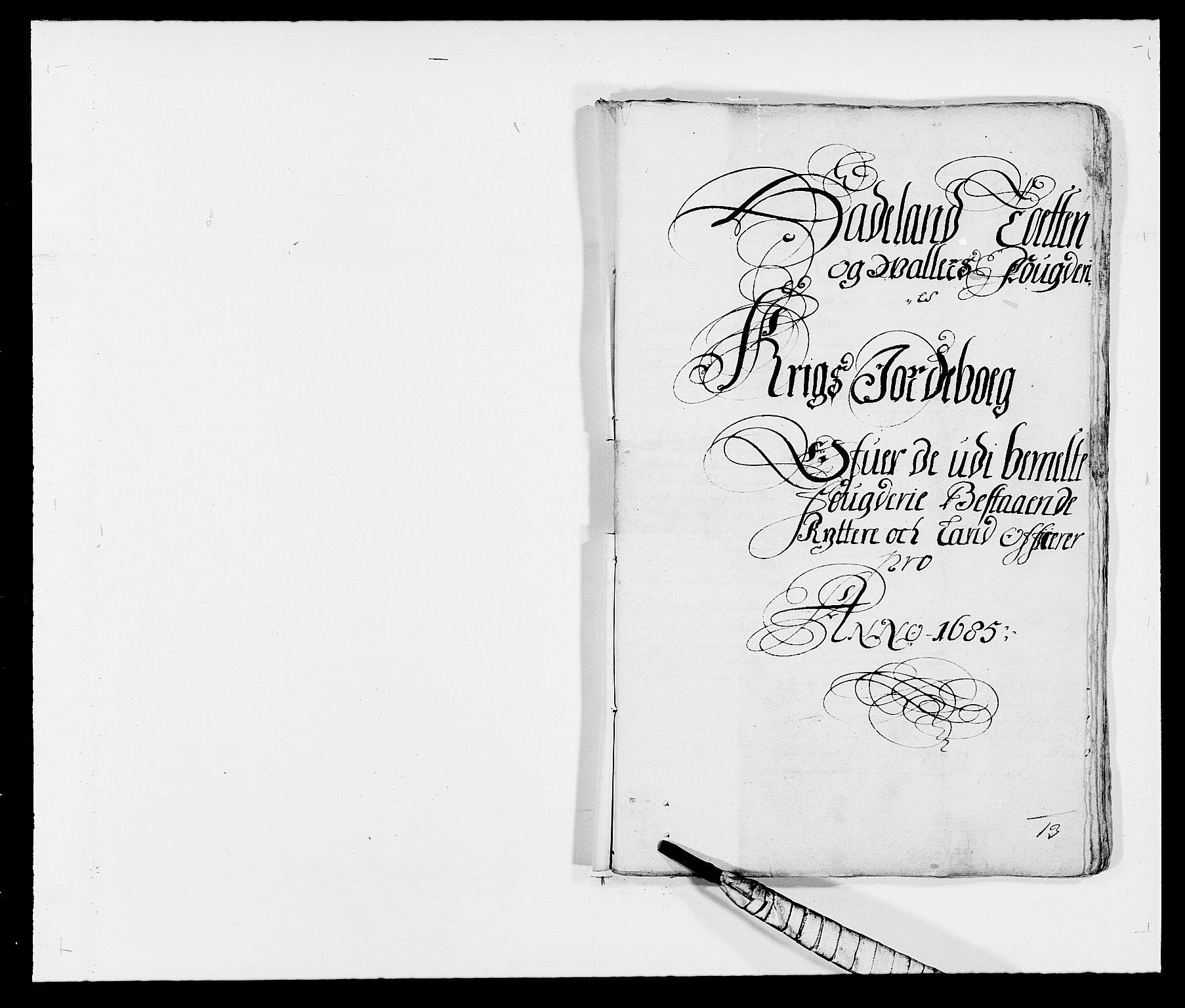 RA, Rentekammeret inntil 1814, Reviderte regnskaper, Fogderegnskap, R18/L1284: Fogderegnskap Hadeland, Toten og Valdres, 1685, s. 210