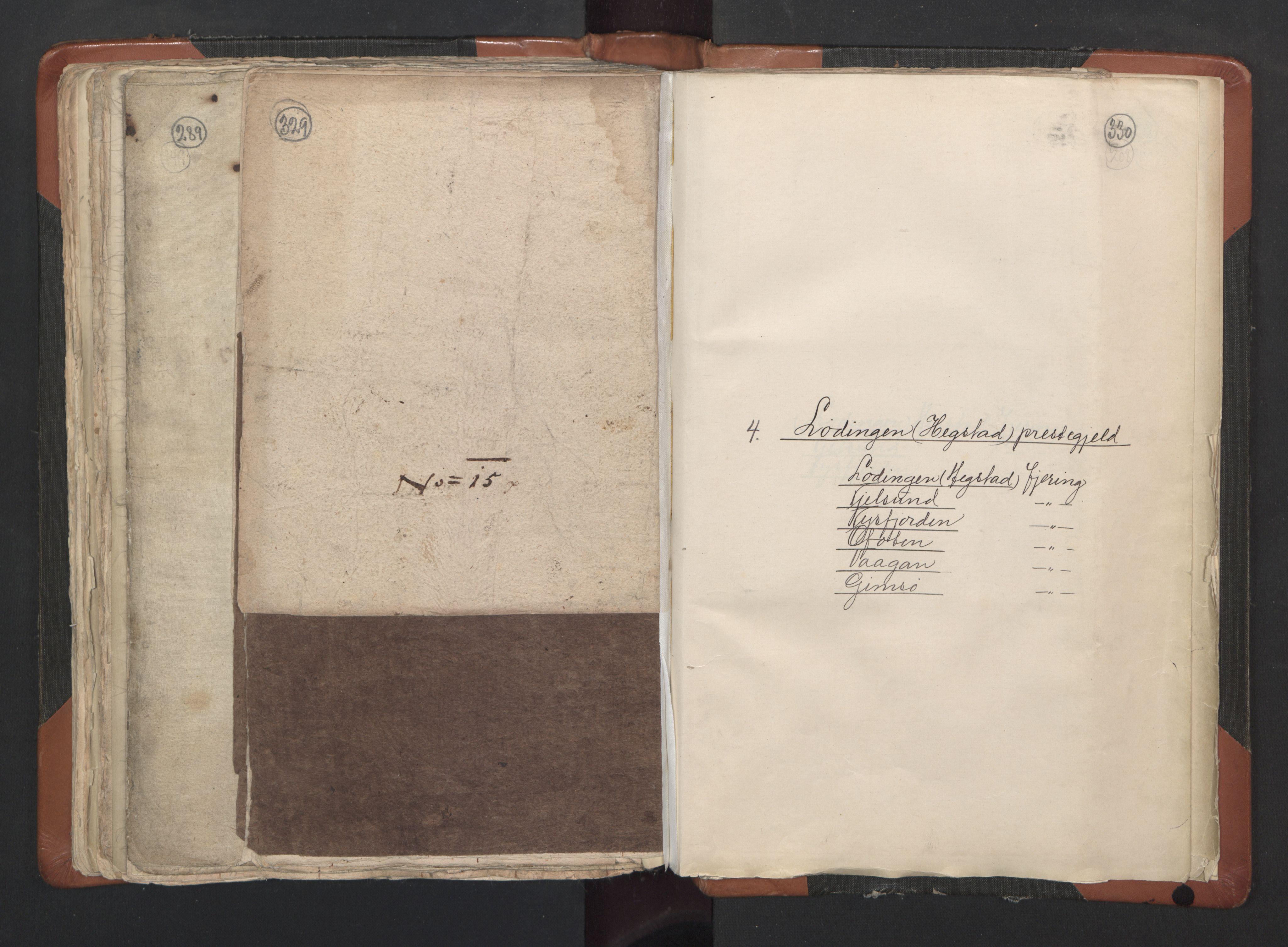 RA, Sogneprestenes manntall 1664-1666, nr. 35: Helgeland prosti og Salten prosti, 1664-1666, s. 329-330