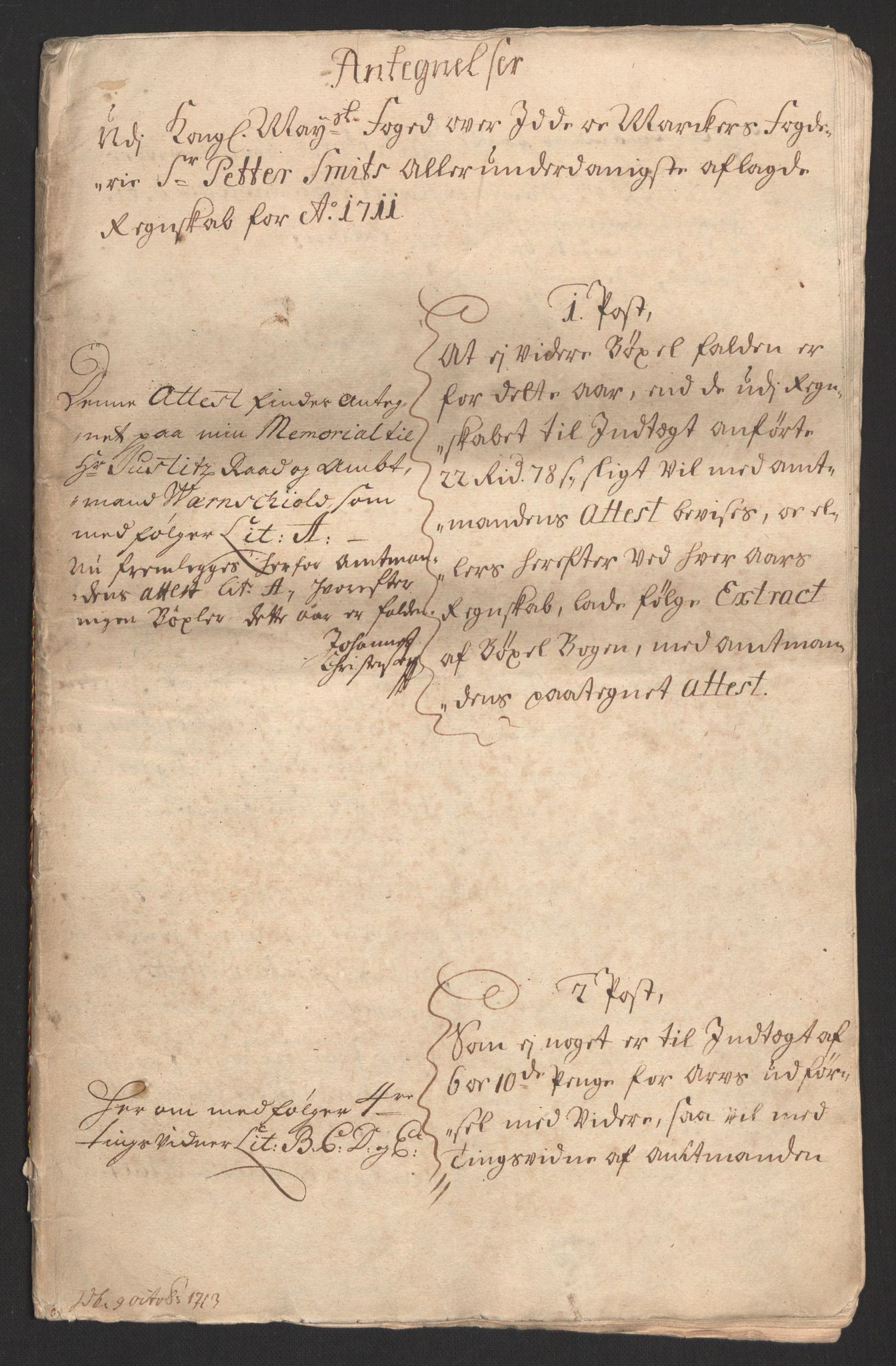 RA, Rentekammeret inntil 1814, Reviderte regnskaper, Fogderegnskap, R01/L0020: Fogderegnskap Idd og Marker, 1711, s. 165