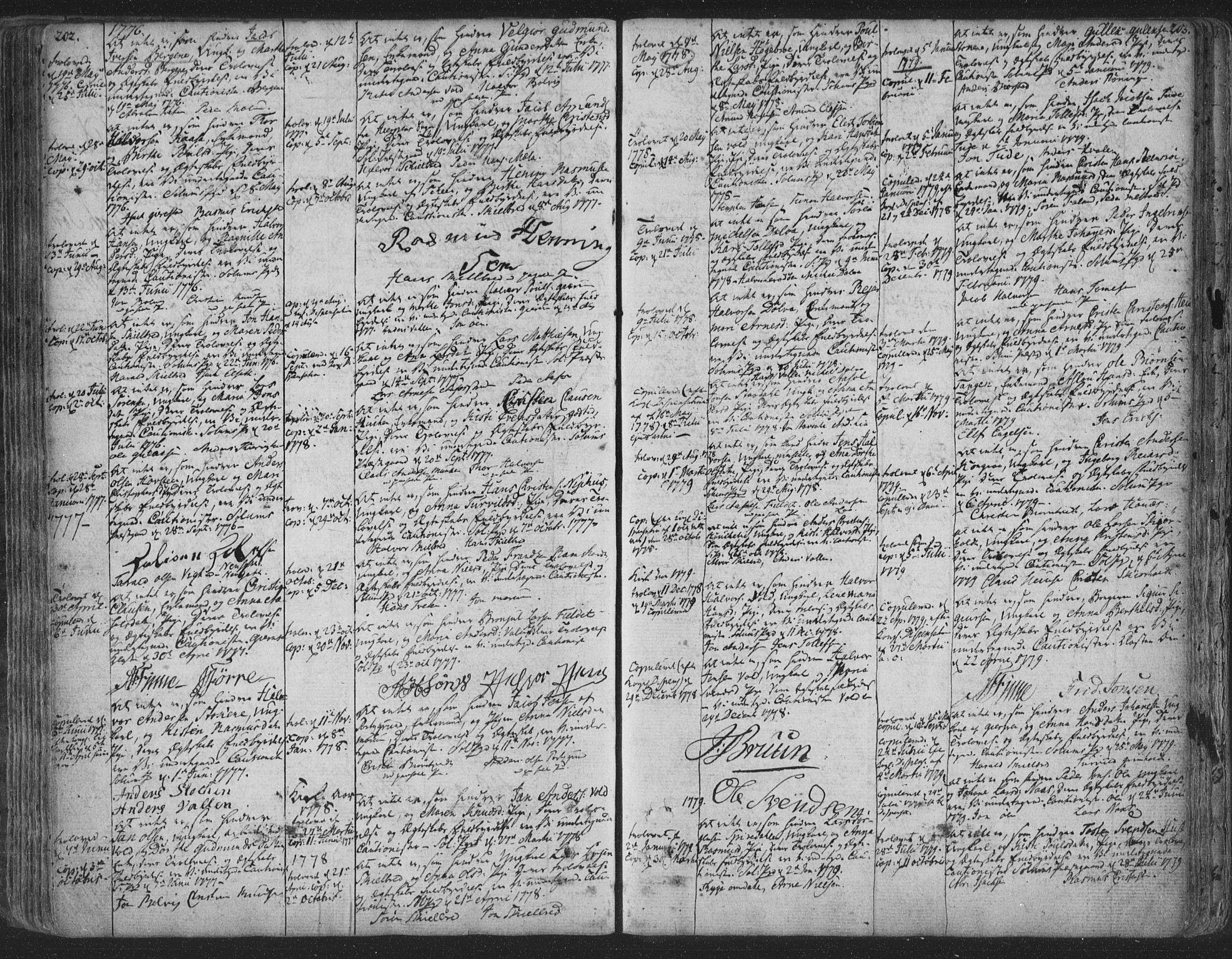 SAKO, Solum kirkebøker, F/Fa/L0003: Ministerialbok nr. I 3, 1761-1814, s. 202-203