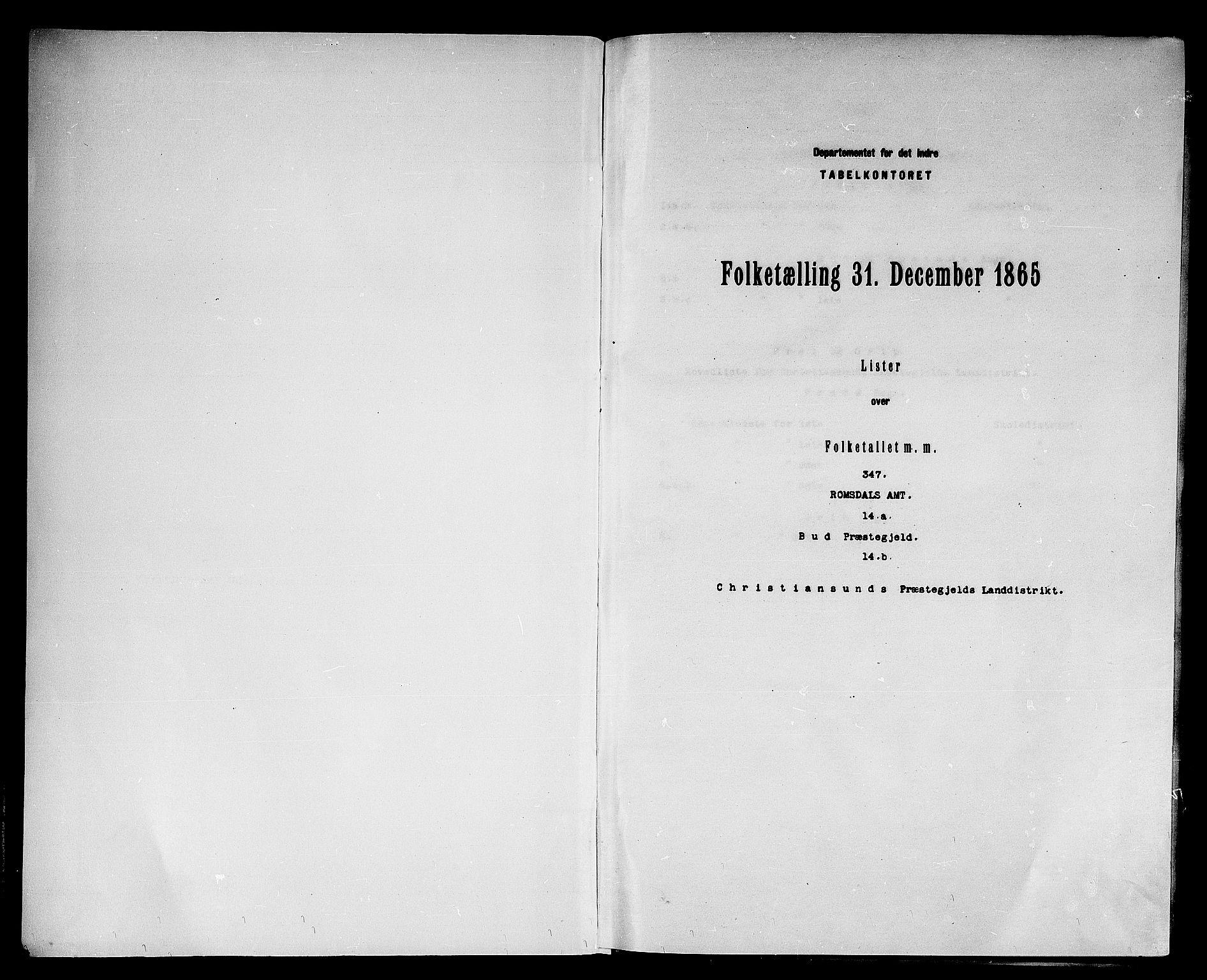 RA, Folketelling 1865 for 1549P Bud prestegjeld, 1865, s. 3