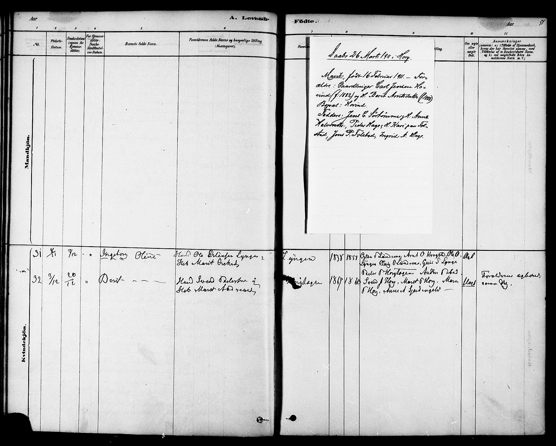 SAT, Ministerialprotokoller, klokkerbøker og fødselsregistre - Sør-Trøndelag, 692/L1105: Ministerialbok nr. 692A05, 1878-1890, s. 51
