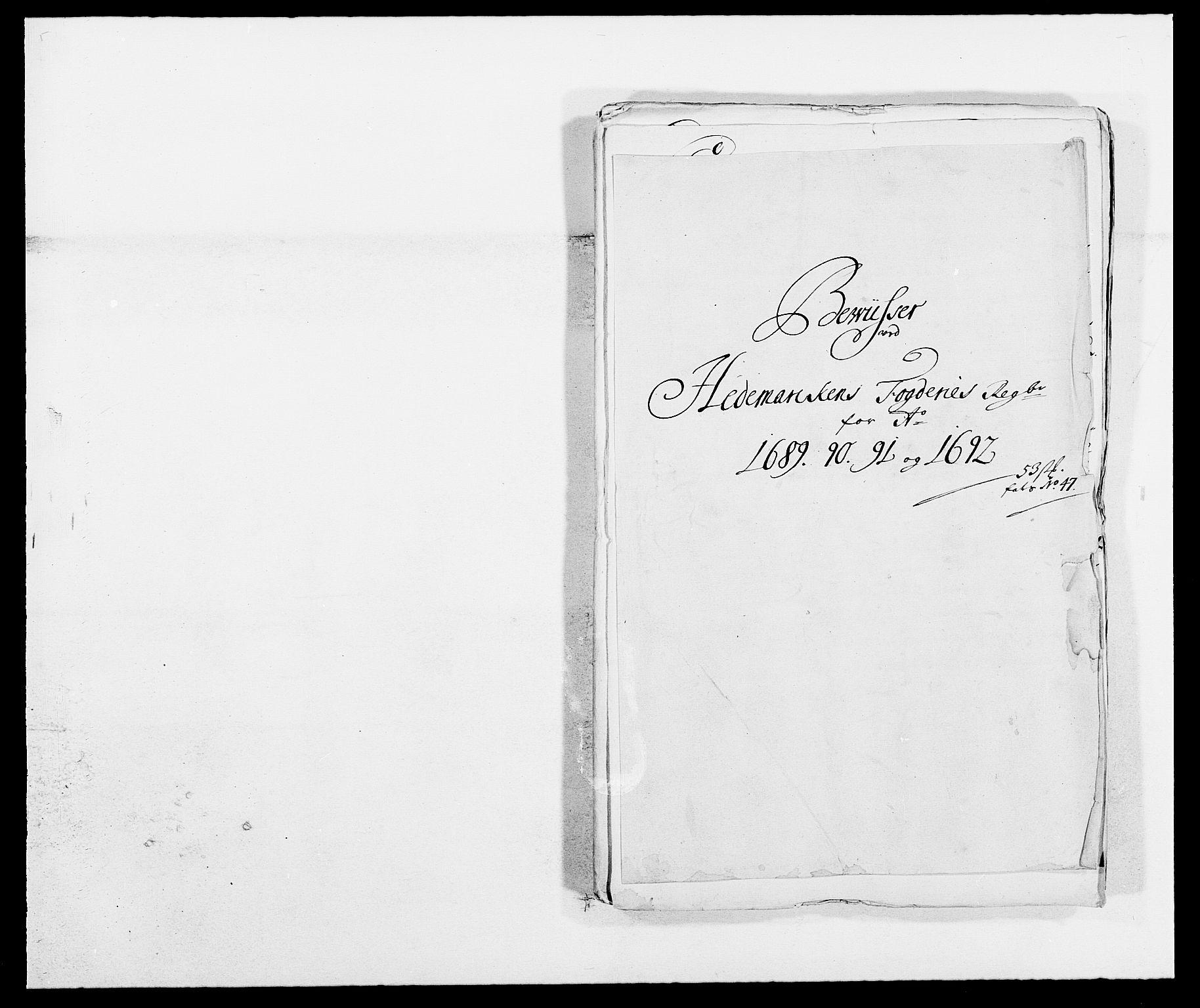 RA, Rentekammeret inntil 1814, Reviderte regnskaper, Fogderegnskap, R16/L1031: Fogderegnskap Hedmark, 1689-1692, s. 132