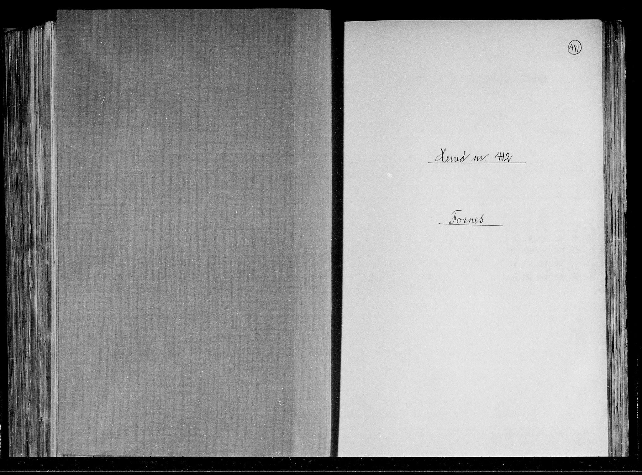 RA, Folketelling 1891 for 1748 Fosnes herred, 1891, s. 1