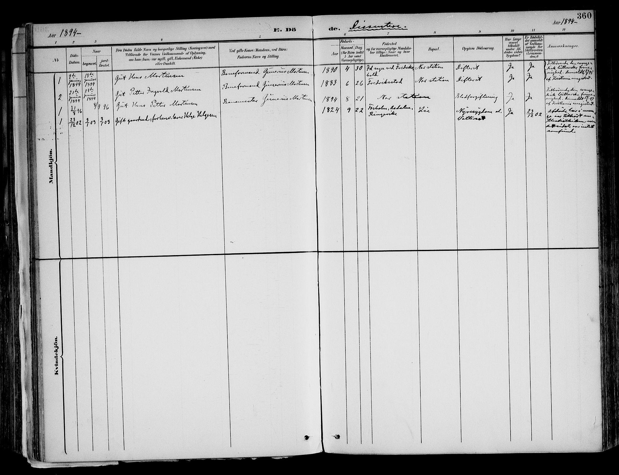 SAH, Brandval prestekontor, H/Ha/Haa/L0003: Ministerialbok nr. 3, 1894-1909, s. 360