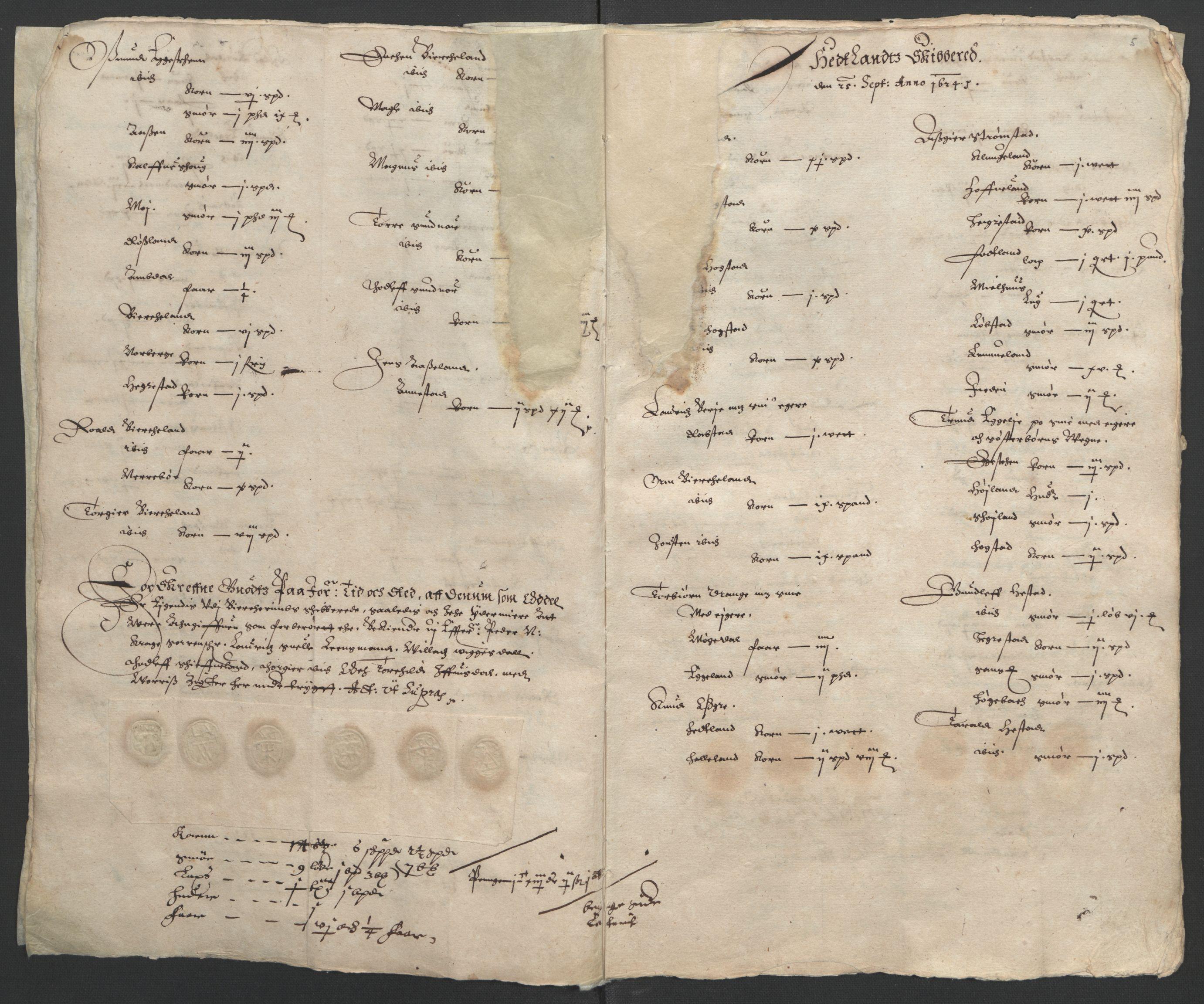 RA, Stattholderembetet 1572-1771, Ek/L0010: Jordebøker til utlikning av rosstjeneste 1624-1626:, 1624-1626, s. 39