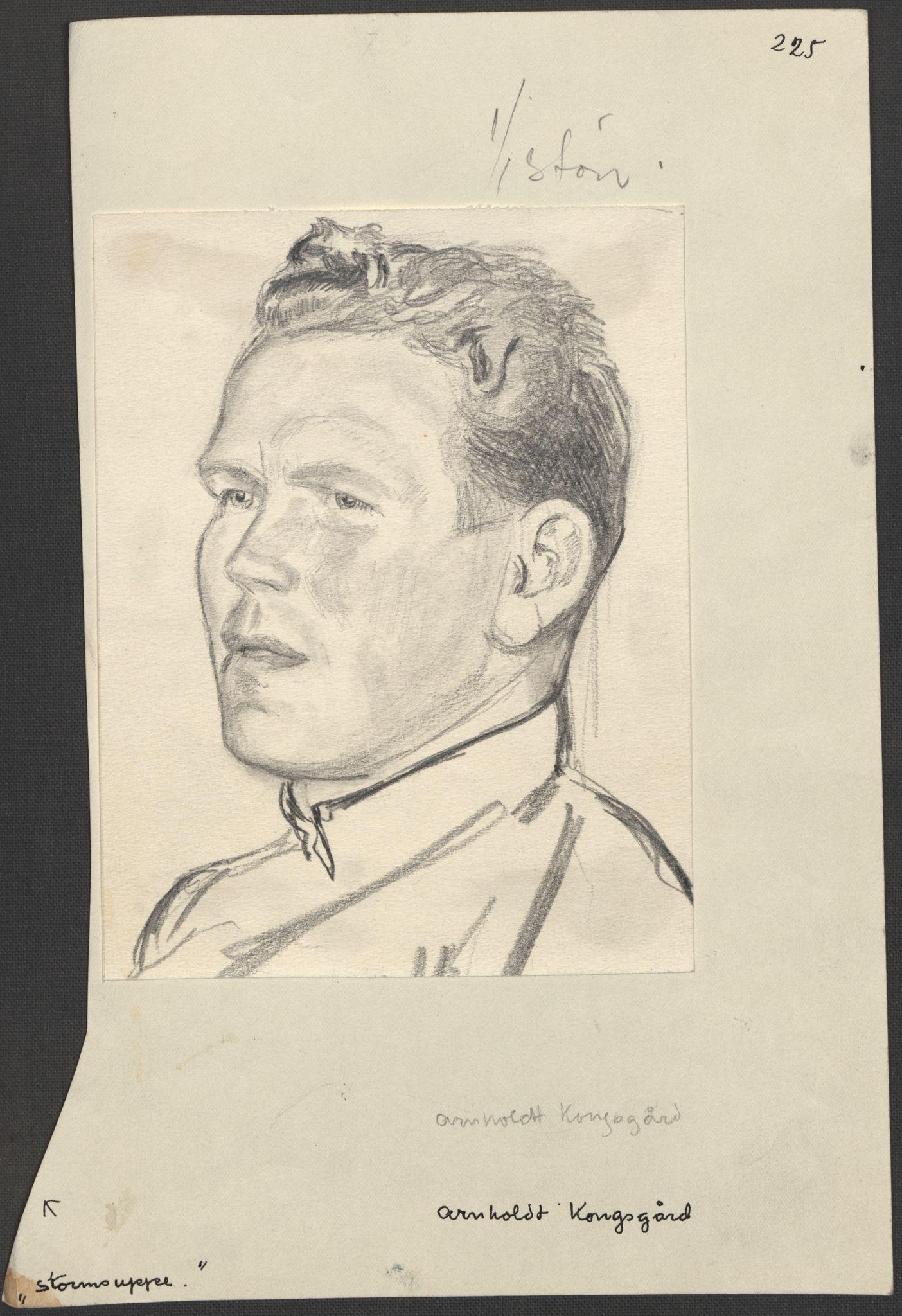 RA, Grøgaard, Joachim, F/L0002: Tegninger og tekster, 1942-1945, s. 116