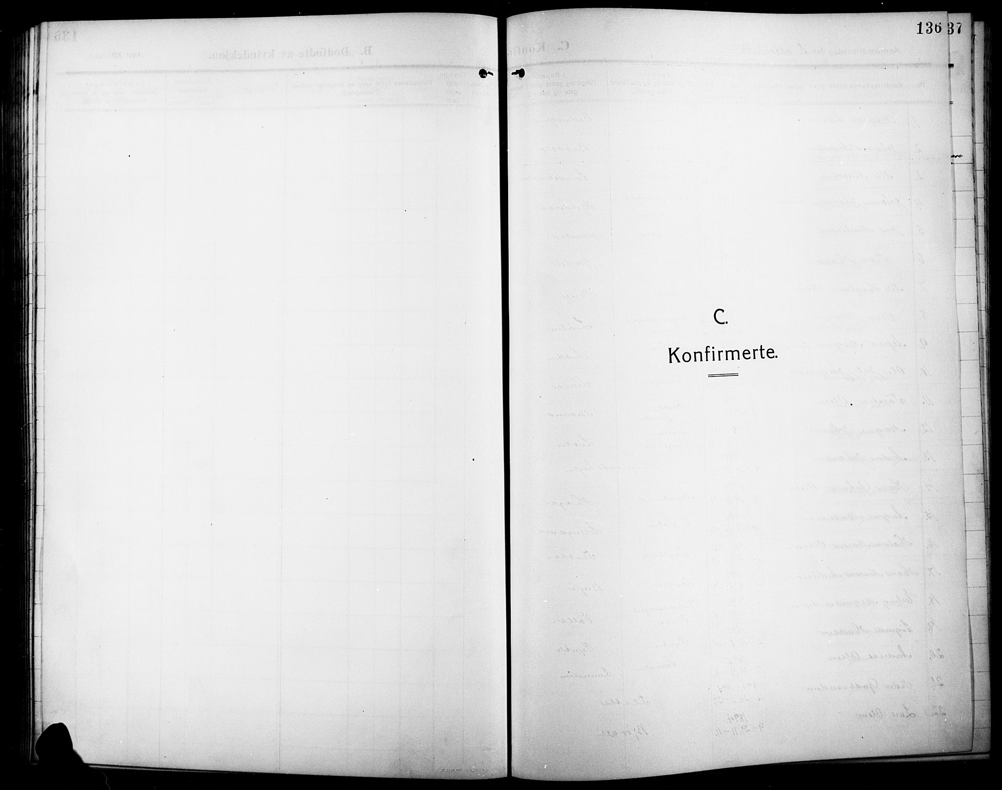 SAH, Lunner prestekontor, H/Ha/Hab/L0001: Klokkerbok nr. 1, 1909-1922, s. 136
