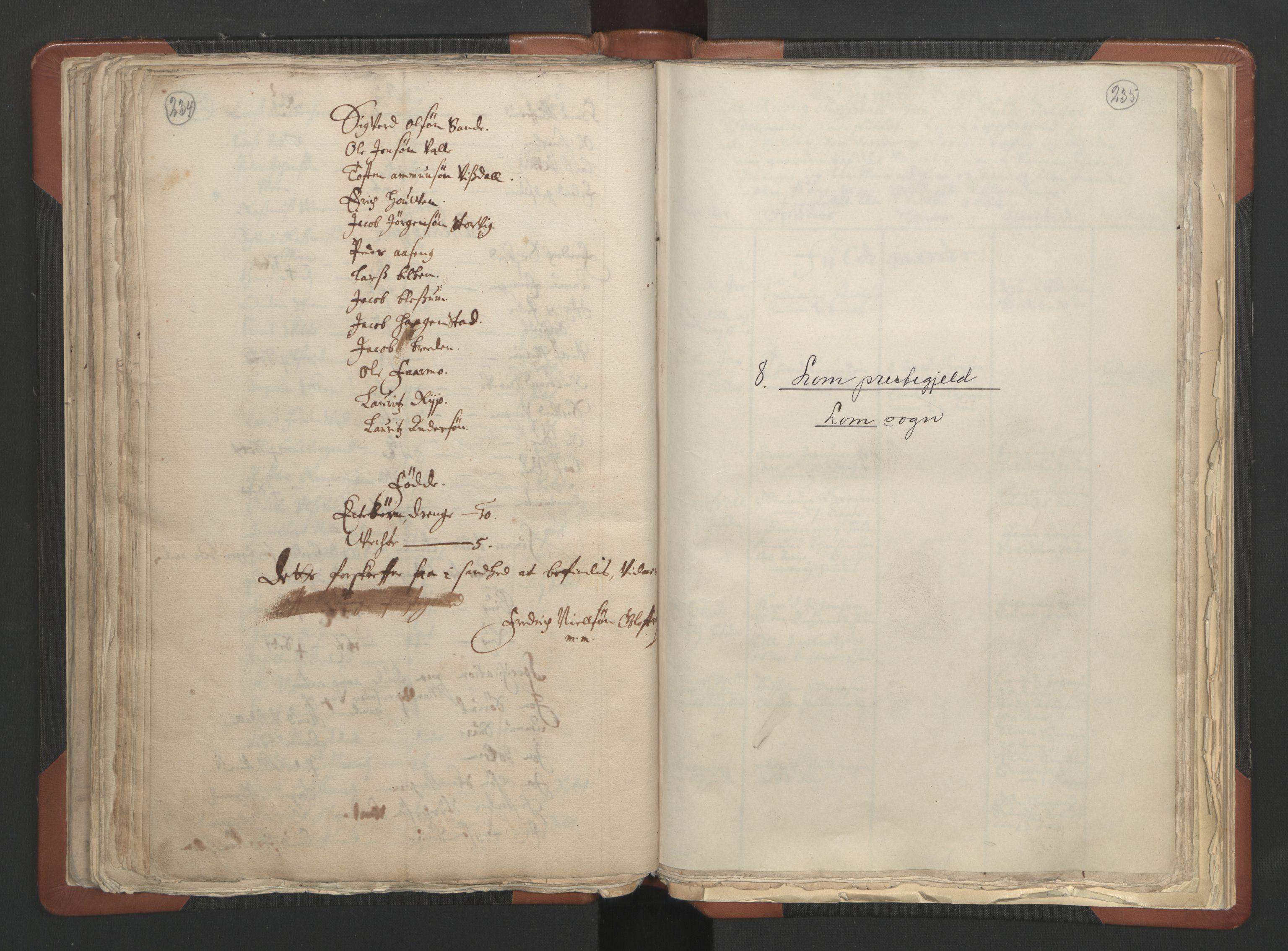 RA, Sogneprestenes manntall 1664-1666, nr. 6: Gudbrandsdal prosti, 1664-1666, s. 234-235