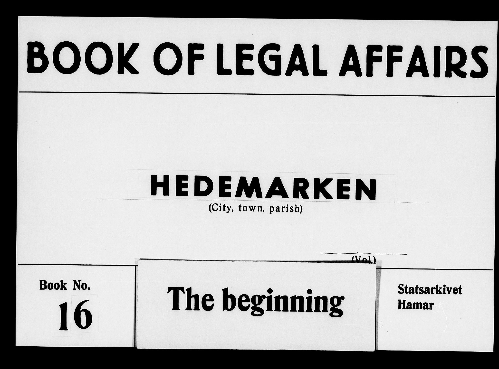 SAH, Hedemarken sorenskriveri, G/Gb/L0017: Tingbok, 1681