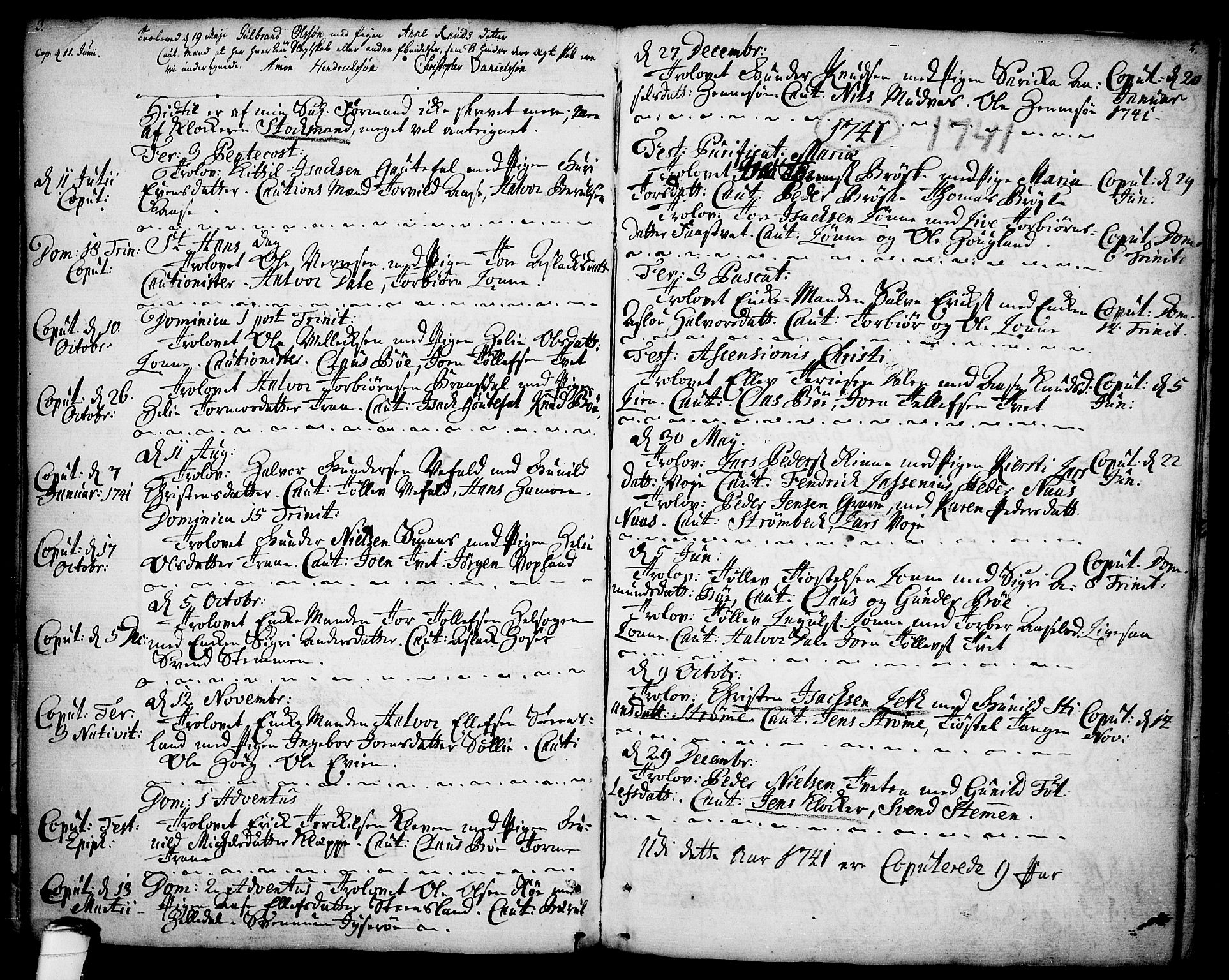 SAKO, Drangedal kirkebøker, F/Fa/L0001: Ministerialbok nr. 1, 1697-1767, s. 3-4