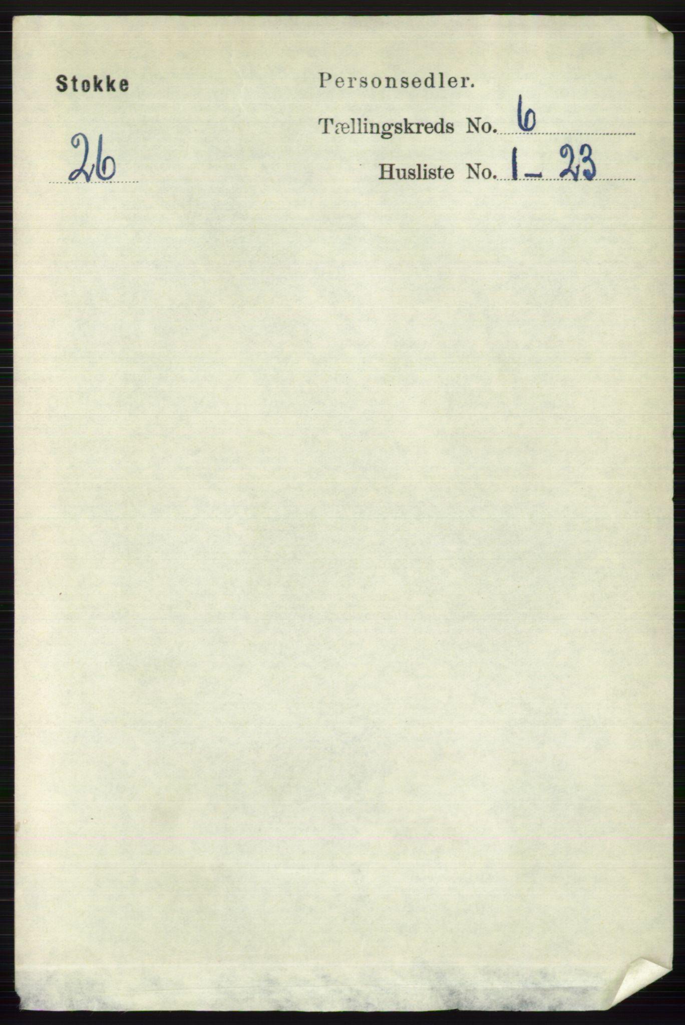 RA, Folketelling 1891 for 0720 Stokke herred, 1891, s. 3791