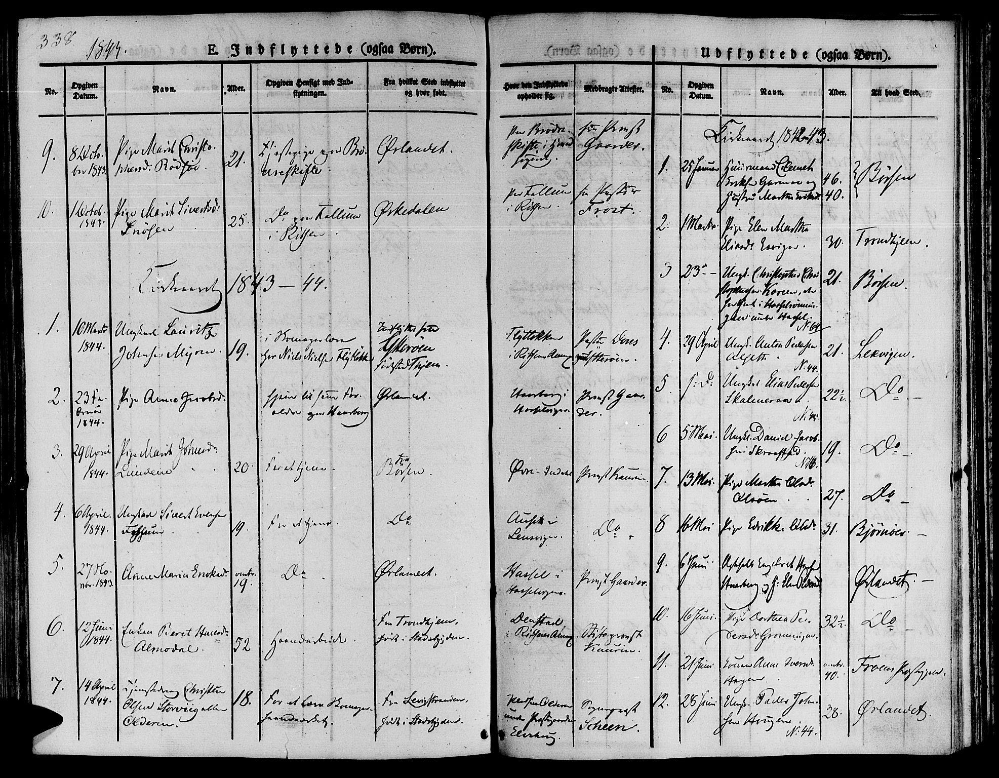 SAT, Ministerialprotokoller, klokkerbøker og fødselsregistre - Sør-Trøndelag, 646/L0610: Ministerialbok nr. 646A08, 1837-1847, s. 338
